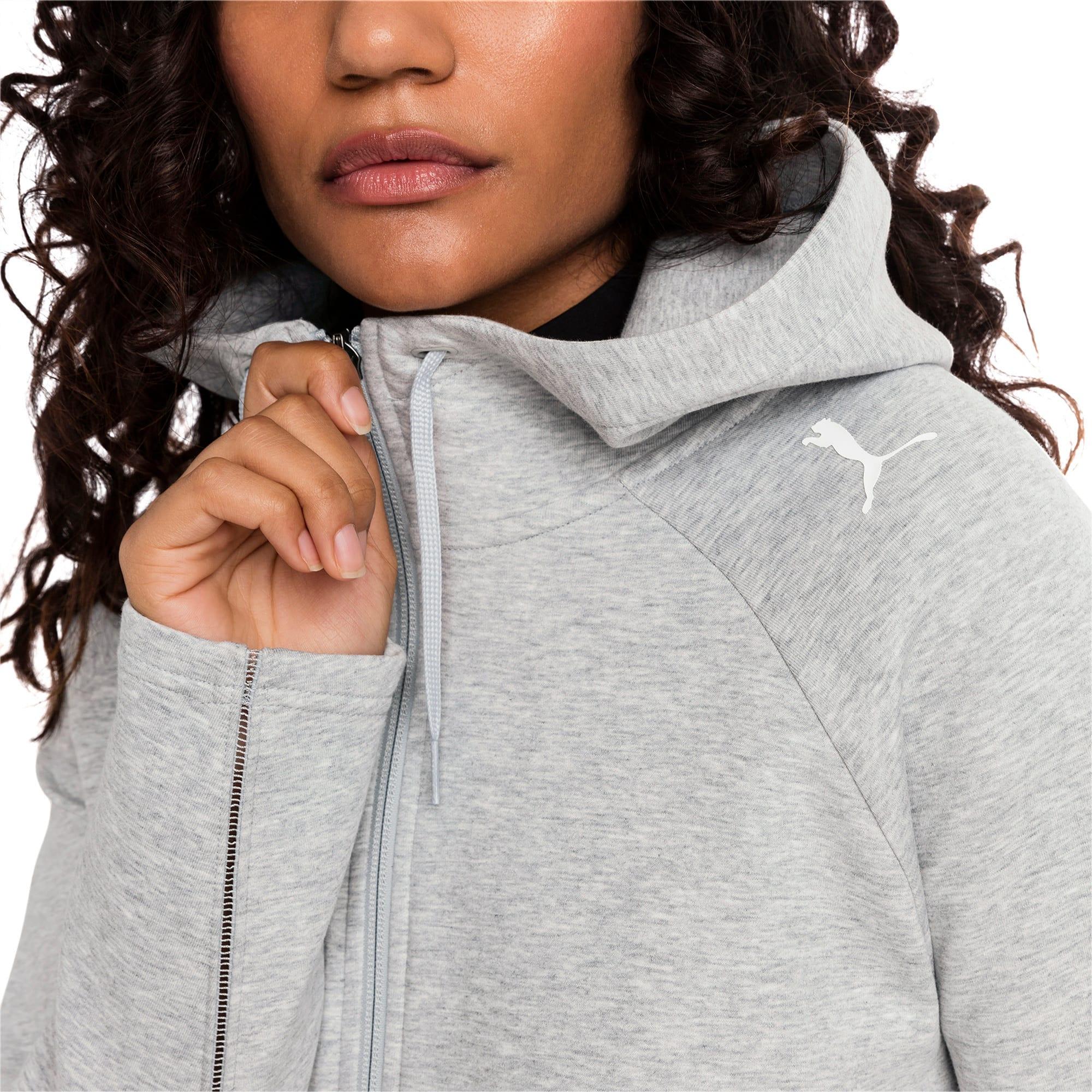 Thumbnail 1 van Evostripe Move hoodie met rits voor vrouwen, Light Gray Heather, medium
