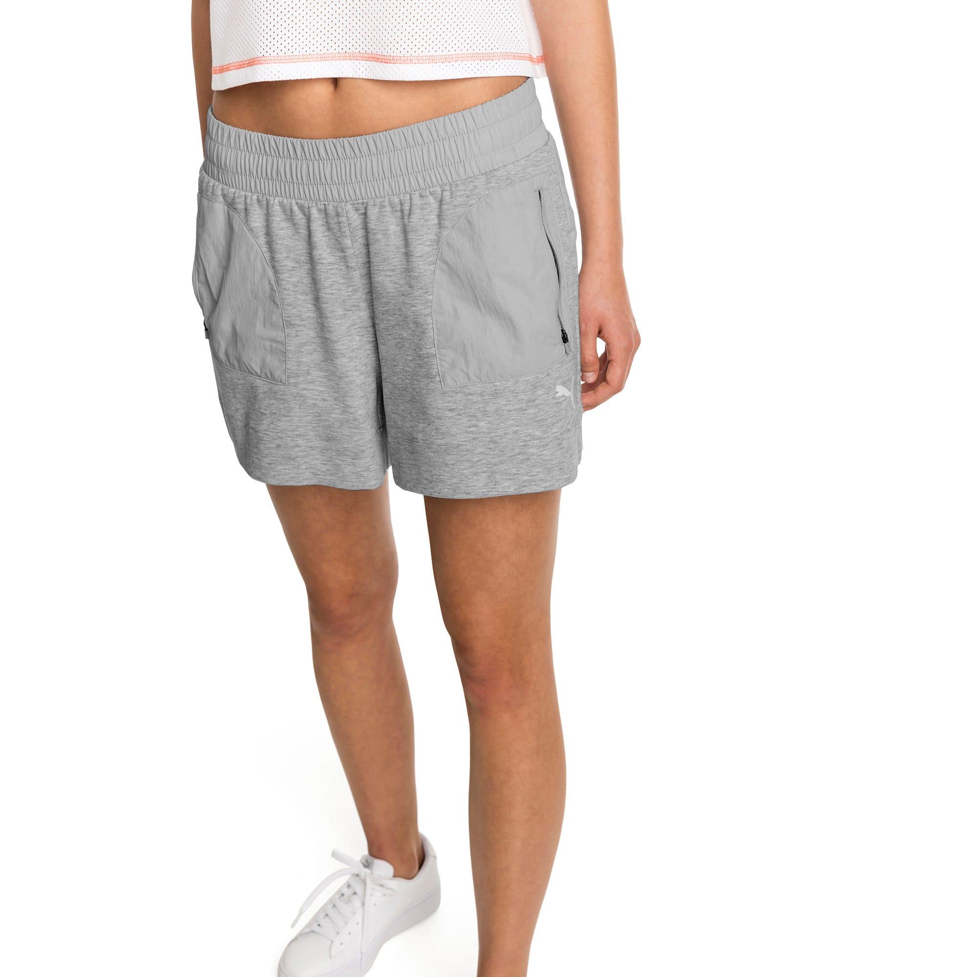 Thumbnail 1 of Evostripe Lite Women's Shorts, Light Gray Heather, medium