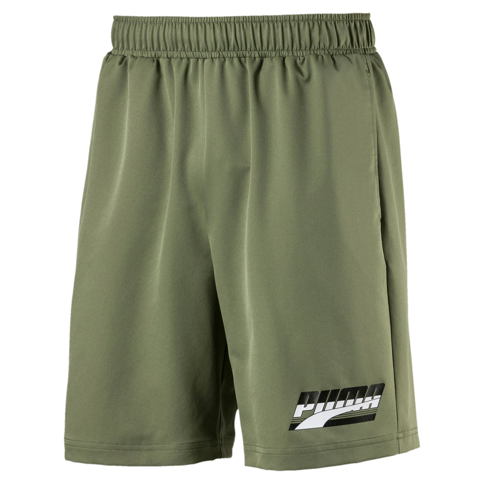 "Thumbnail 1 of Rebel Men's 8"" Woven Shorts, Olivine, medium"