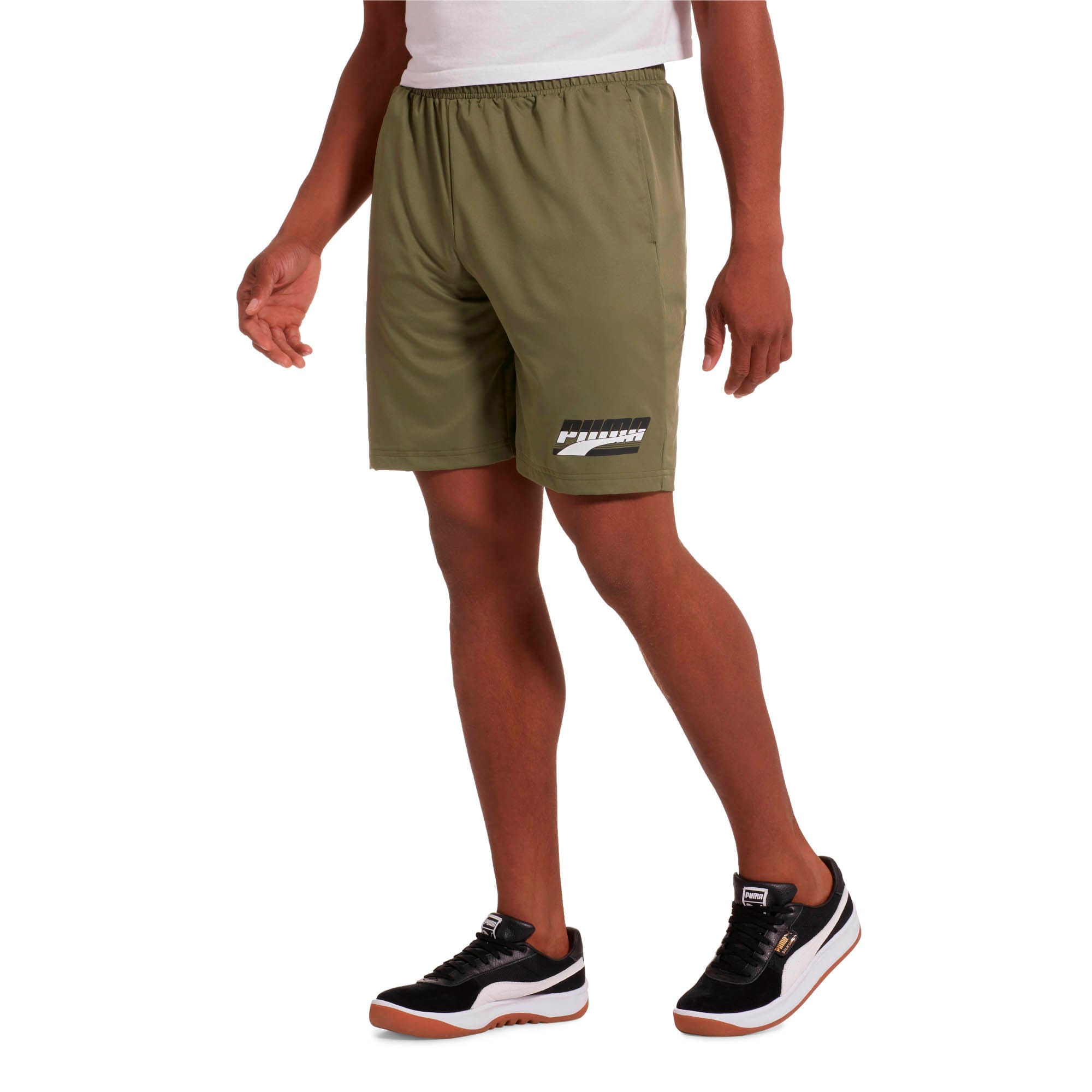 "Thumbnail 2 of Rebel Men's 8"" Woven Shorts, Olivine, medium"