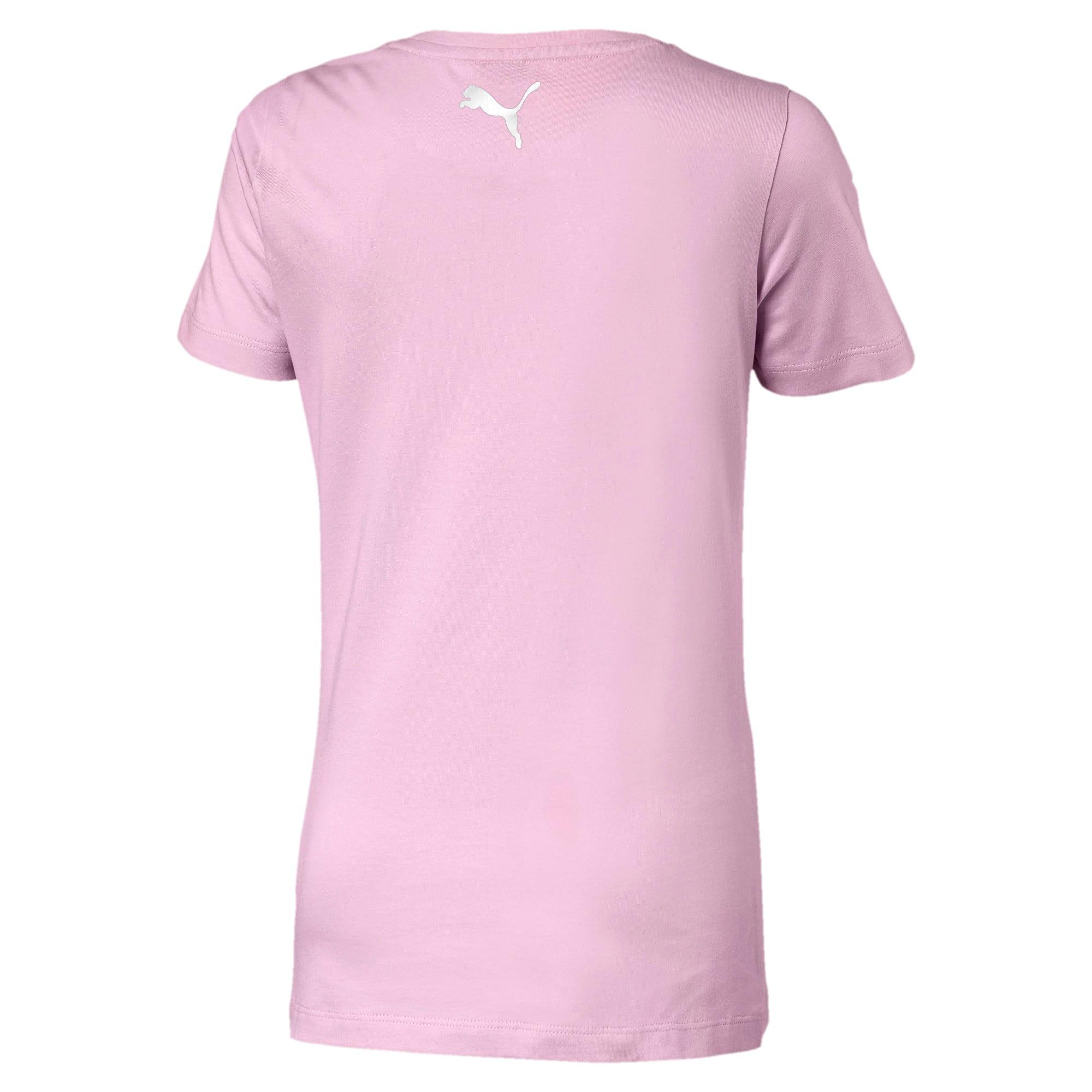 Thumbnail 2 of Alpha Logo Girls' Tee, Pale Pink, medium