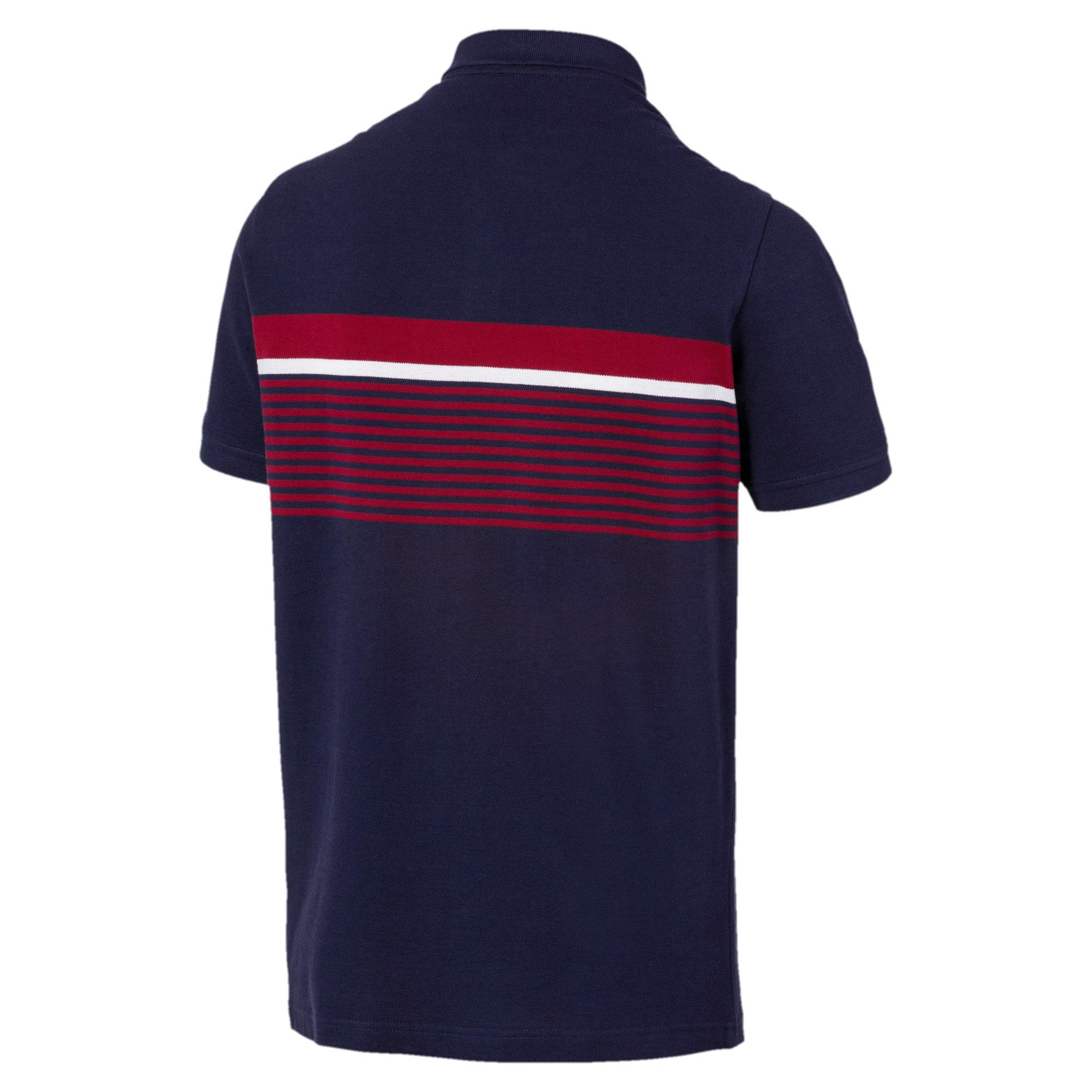 Miniatura 5 de Camiseta tipo polo ESS+ Striped para hombre, Peacoat, mediano