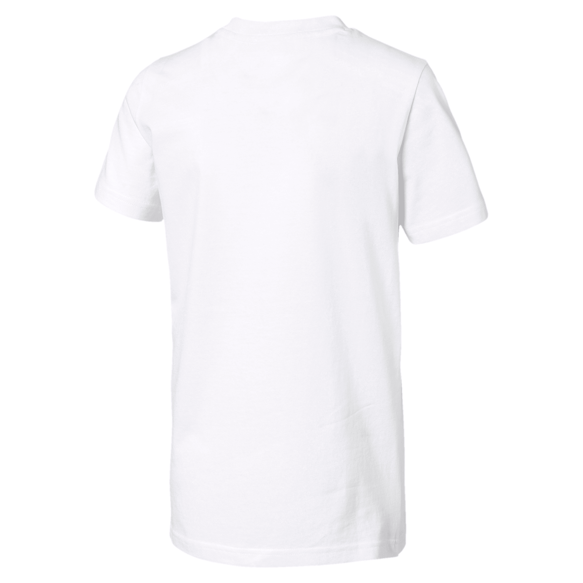 Thumbnail 2 of Rebel Bold Boys' Tee, Puma White, medium