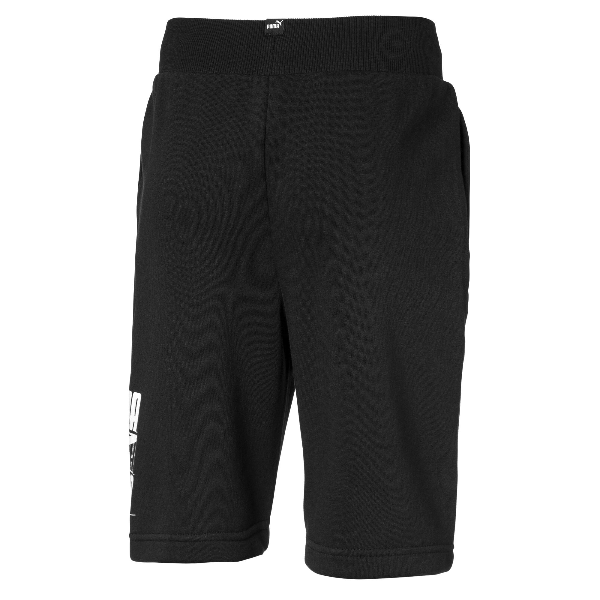 Thumbnail 2 of Rebel Bold Boys' Shorts, Cotton Black, medium