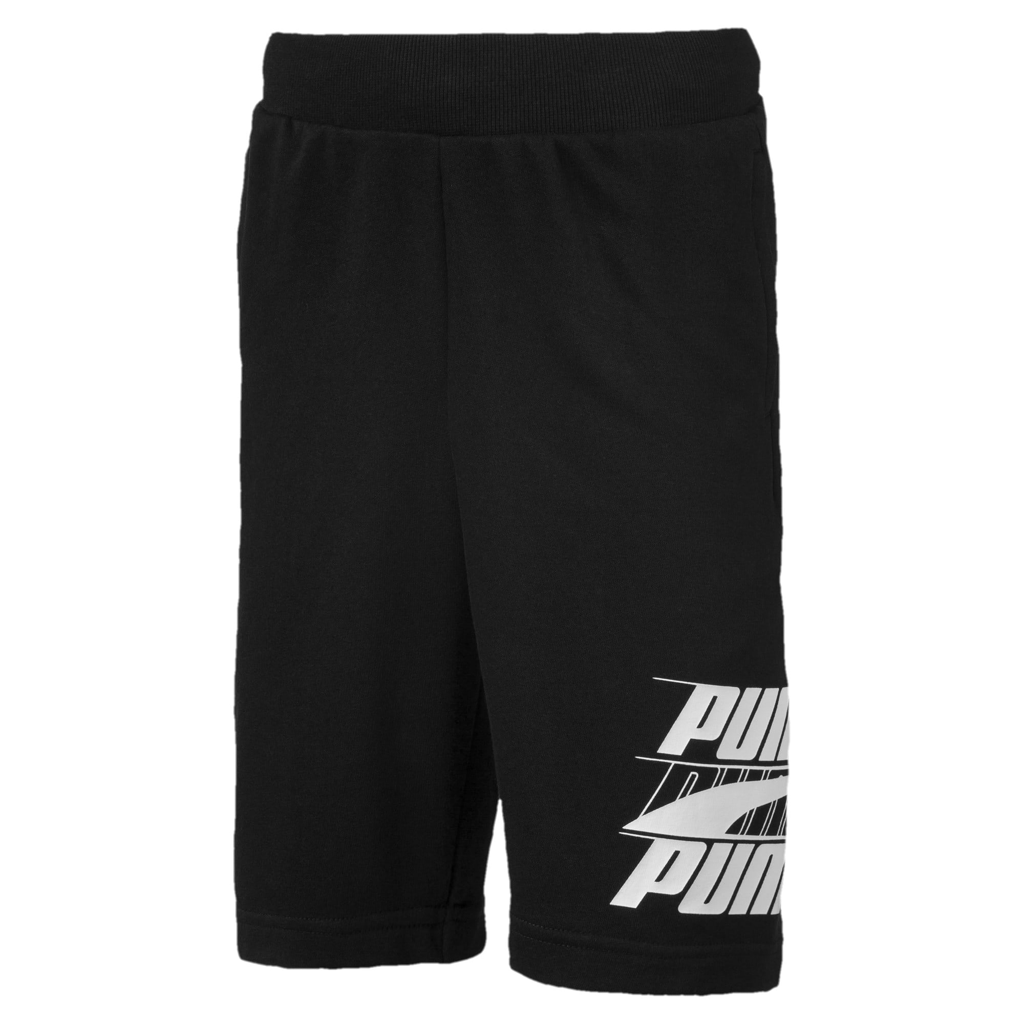 Rebel Bold Boys' Shorts, Cotton Black, large