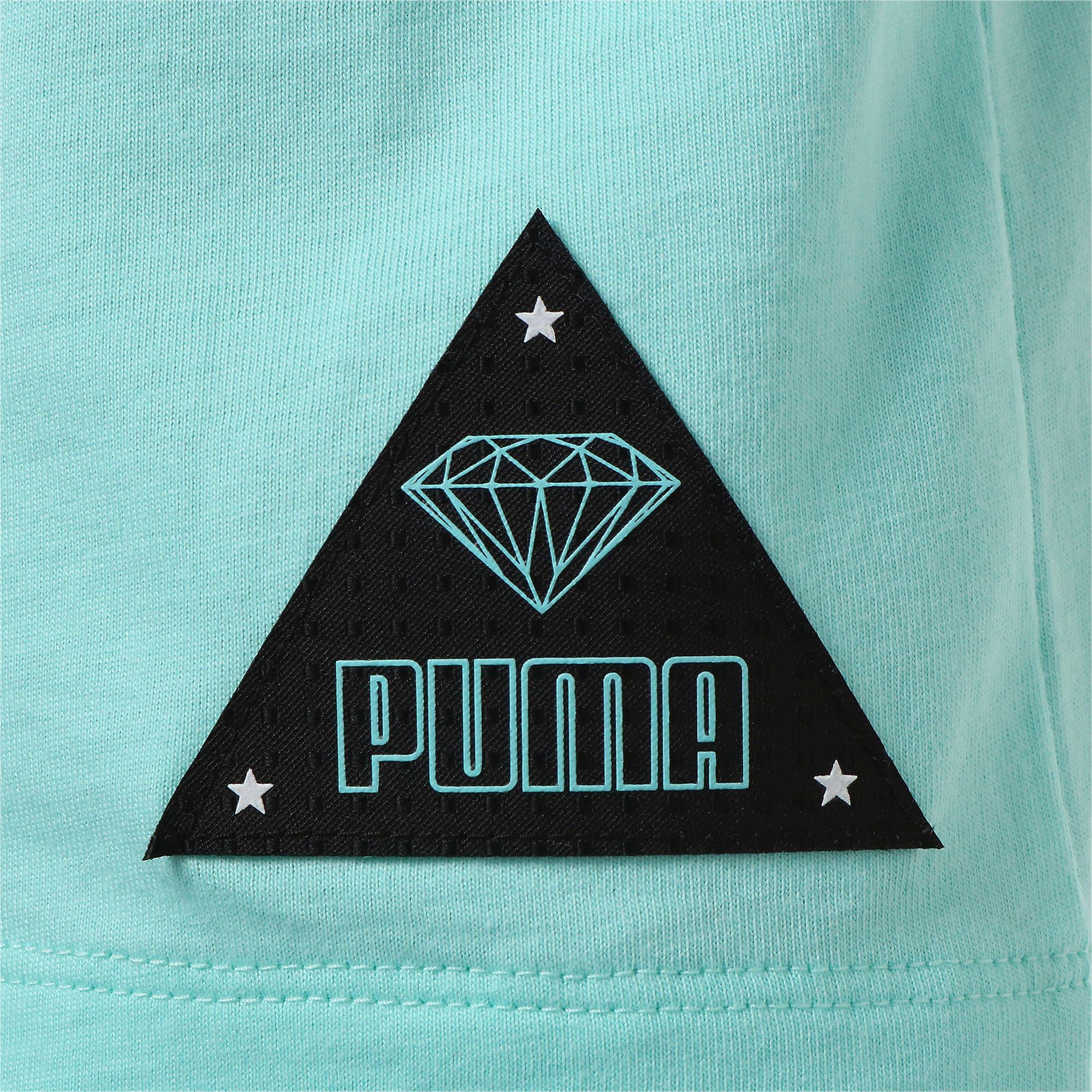 Thumbnail 4 of キッズ PUMA x DIAMOND Tシャツ, ARUBA BLUE, medium-JPN