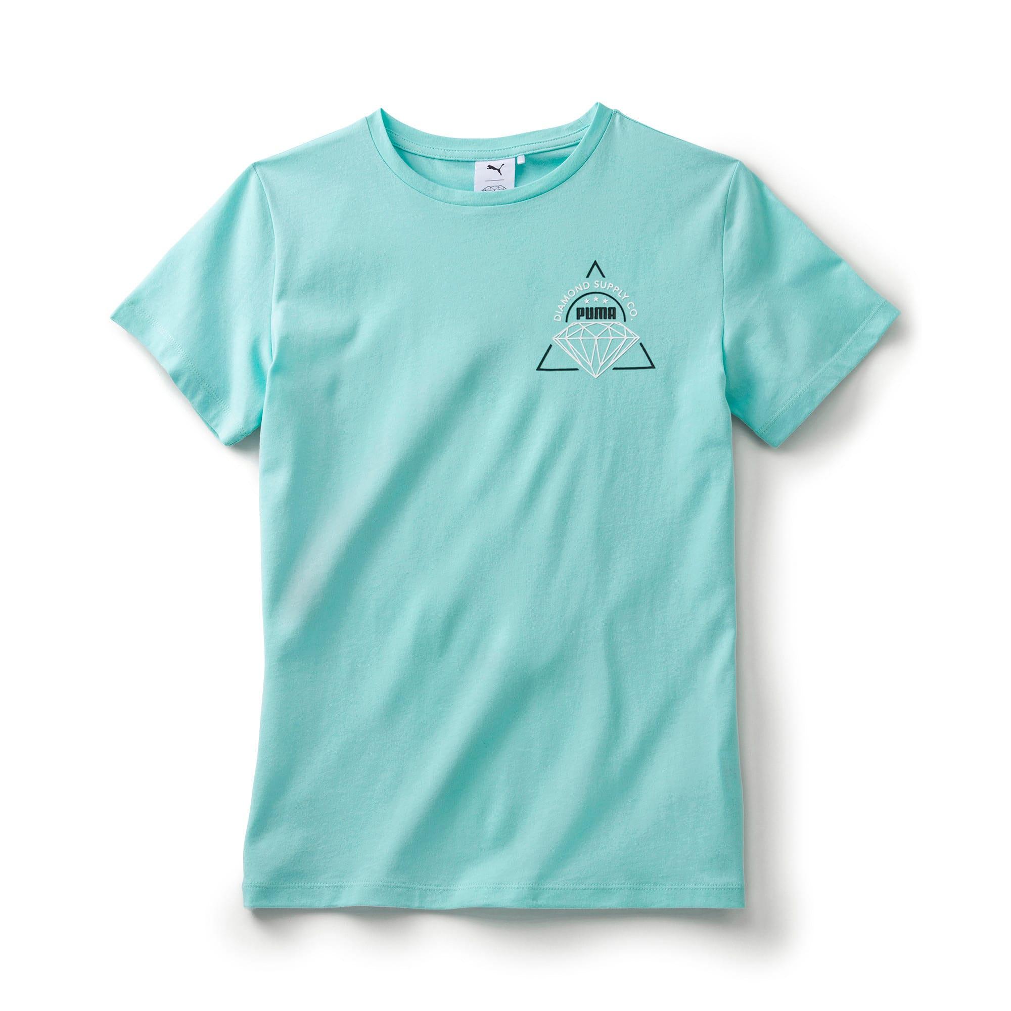 Thumbnail 1 of キッズ PUMA x DIAMOND Tシャツ, ARUBA BLUE, medium-JPN