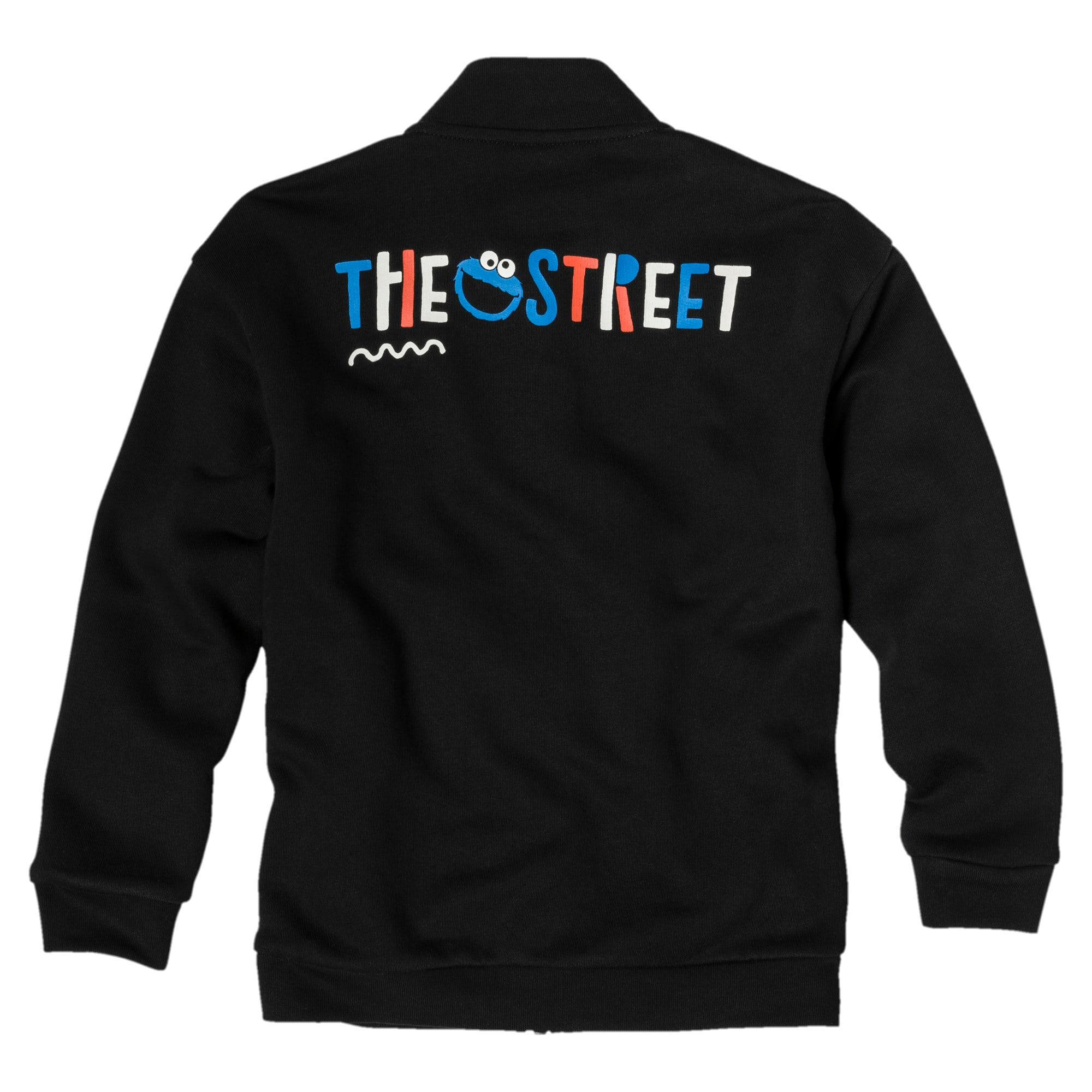 Thumbnail 2 of PUMA x SESAME STREET Boys' Jacket, Cotton Black, medium