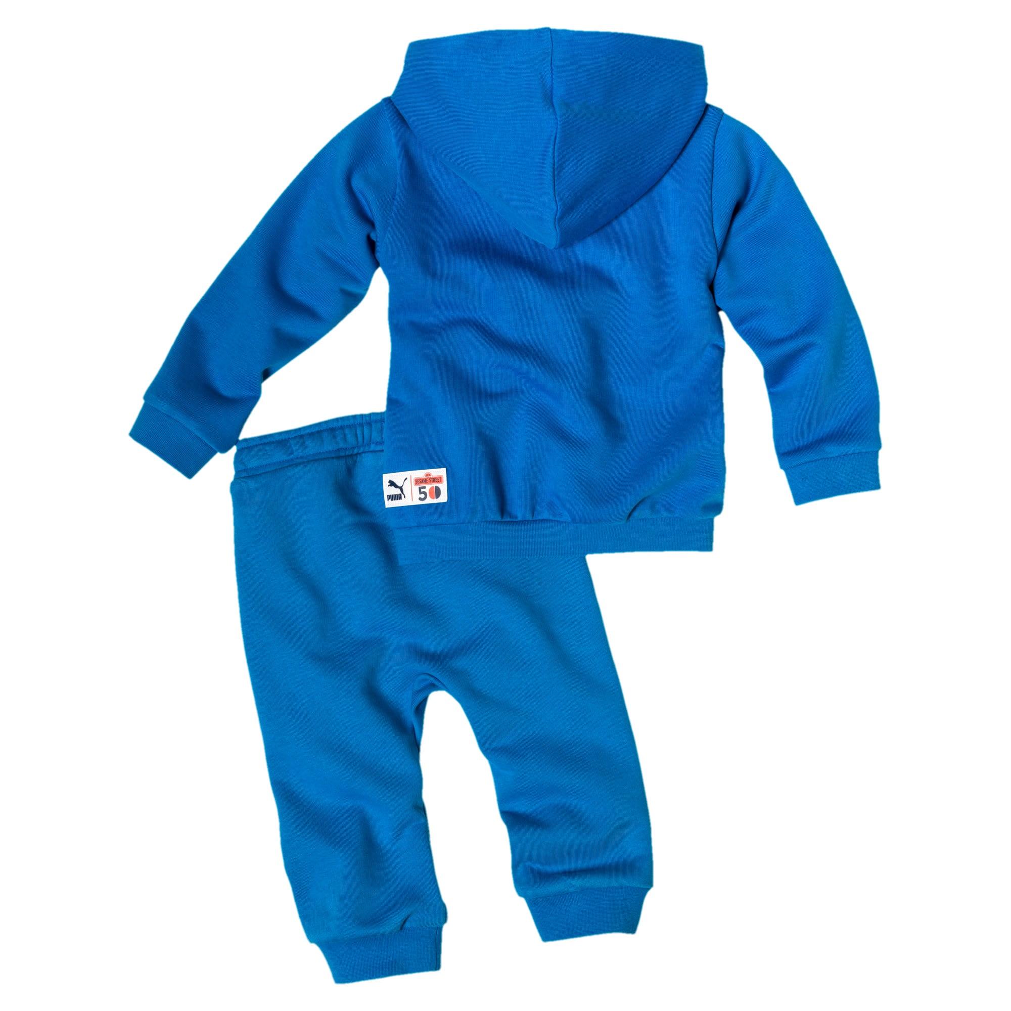 Thumbnail 2 of Sesame Street baby-trainingspak met capuchon voor jongens, Indigo Bunting, medium