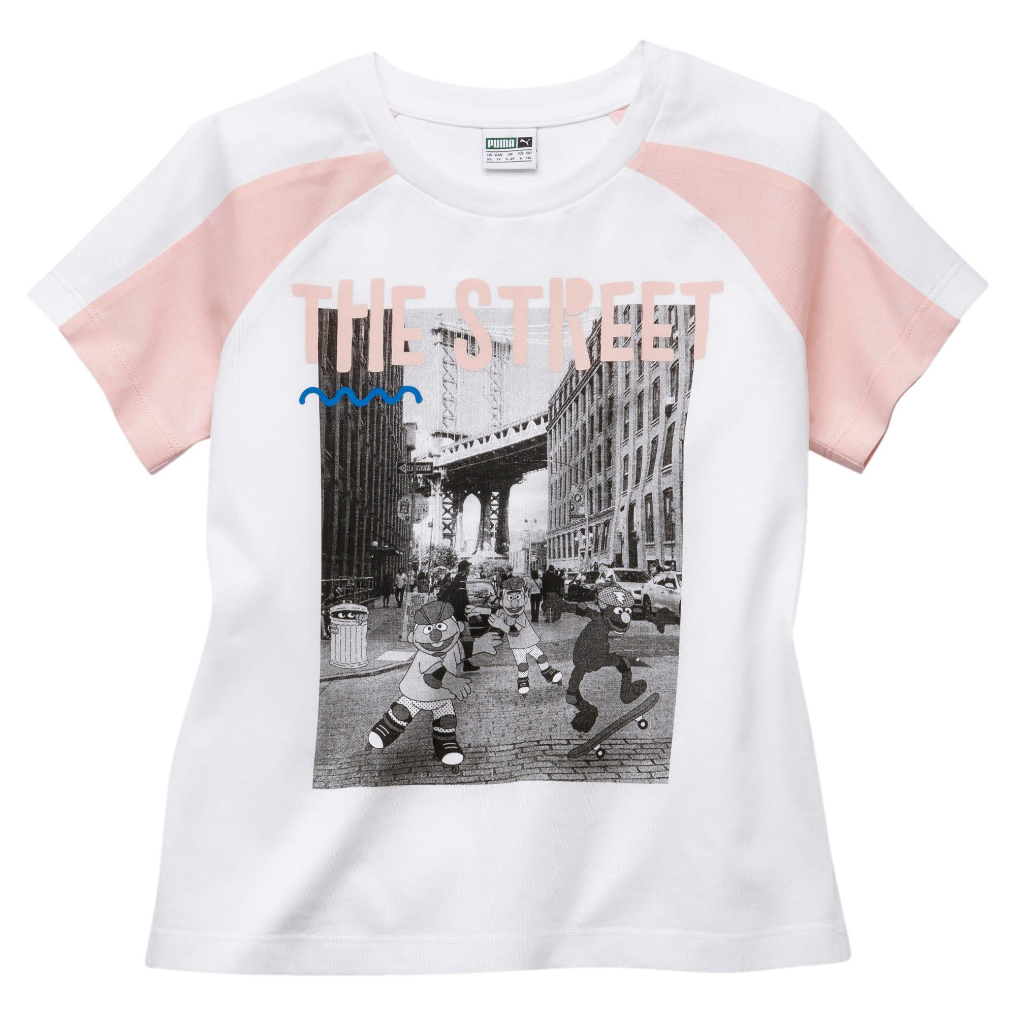 Miniatura 1 de Camiseta PUMA x SESAME STREET para niña, Puma White, mediano