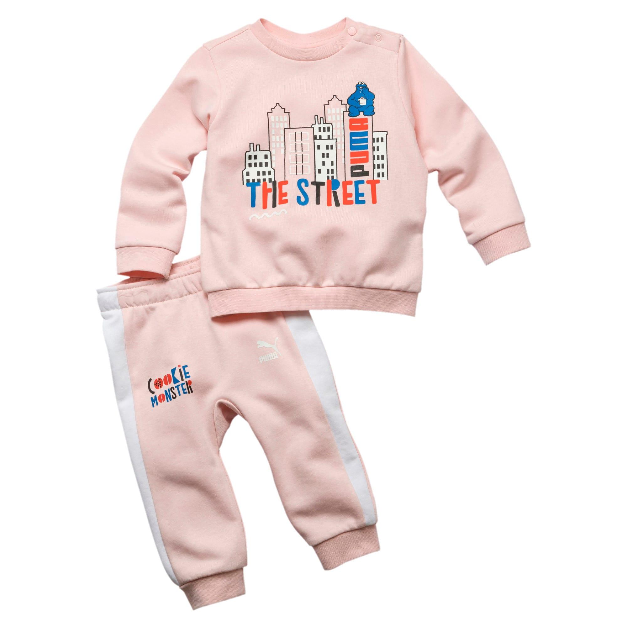 Thumbnail 1 van Sesame Street joggingbroek voor baby's, Versluierde roos, medium