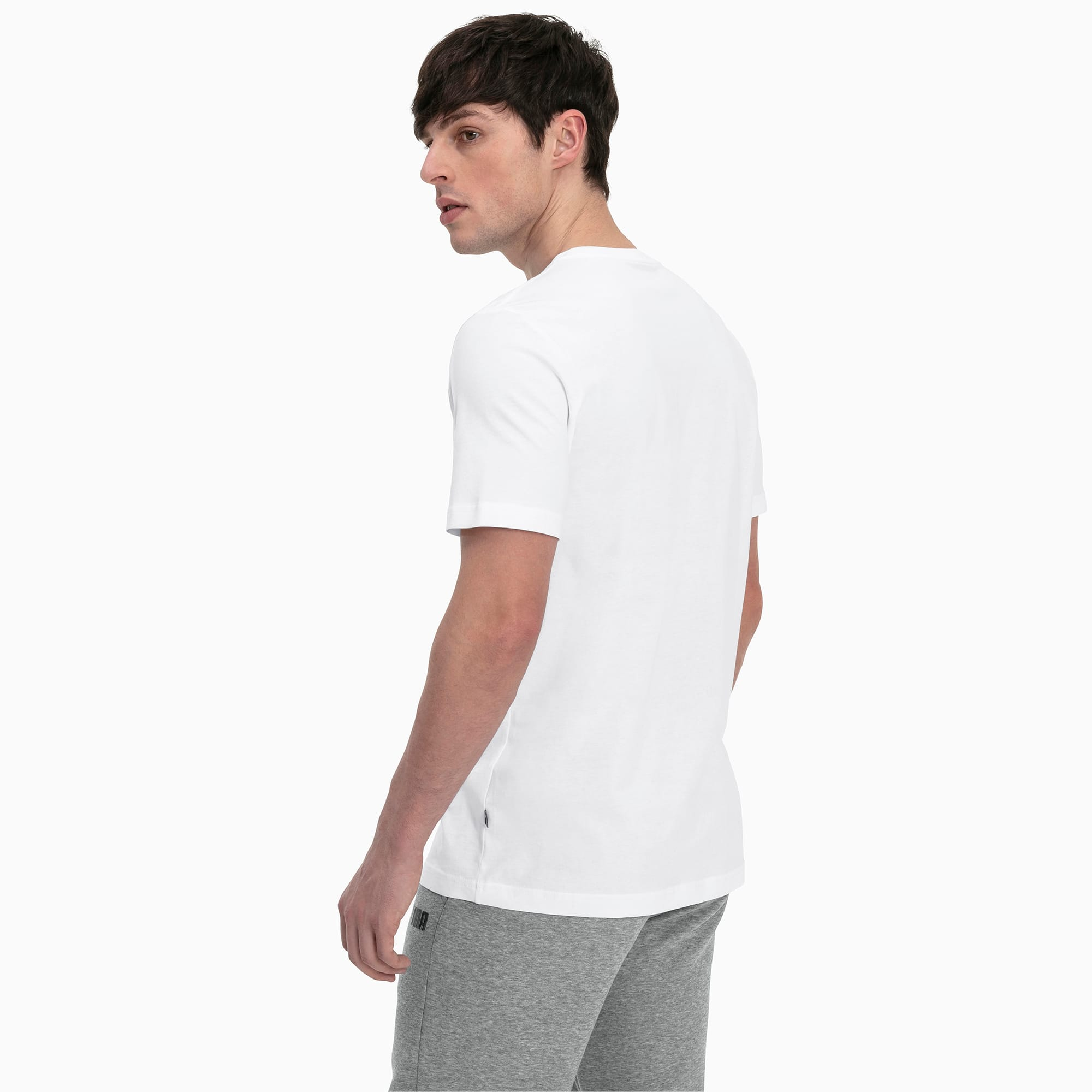Essentials Herren T Shirt | Puma White | PUMA Shoes | PUMA