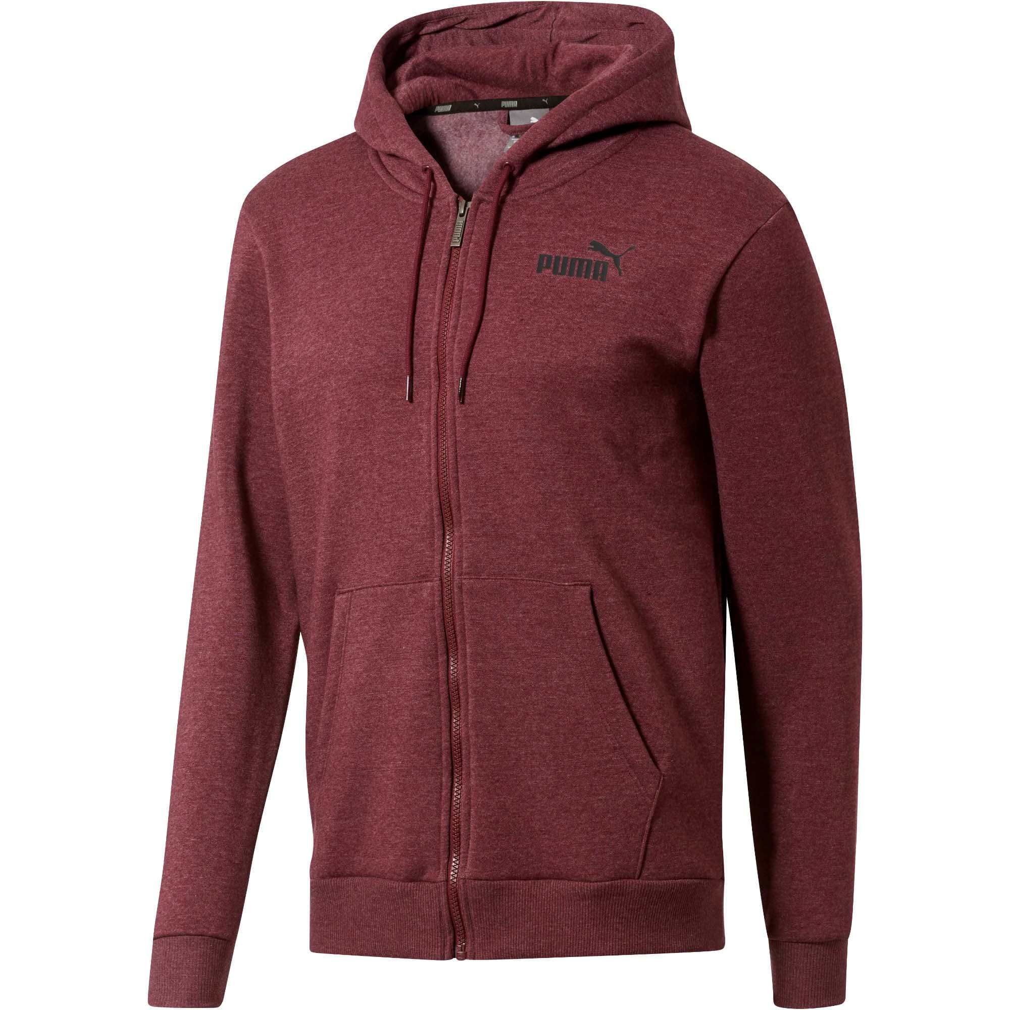 Thumbnail 1 of Essential + Full-Zip Hoodie, Fig Heather, medium