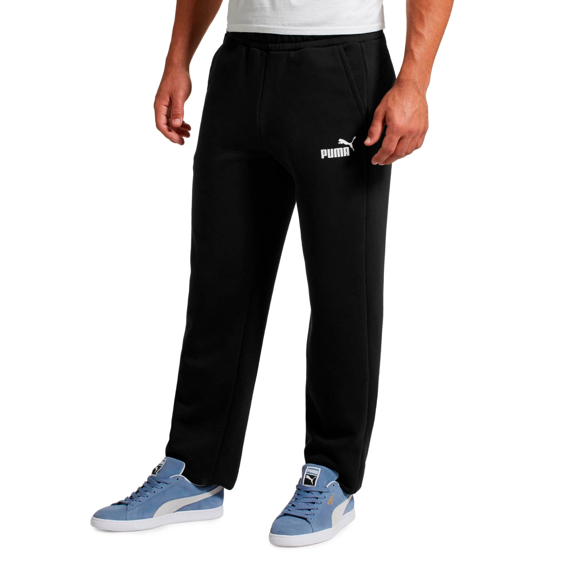 Thumbnail 2 of Eseential Logo Full-Length Pants, Puma Black, medium