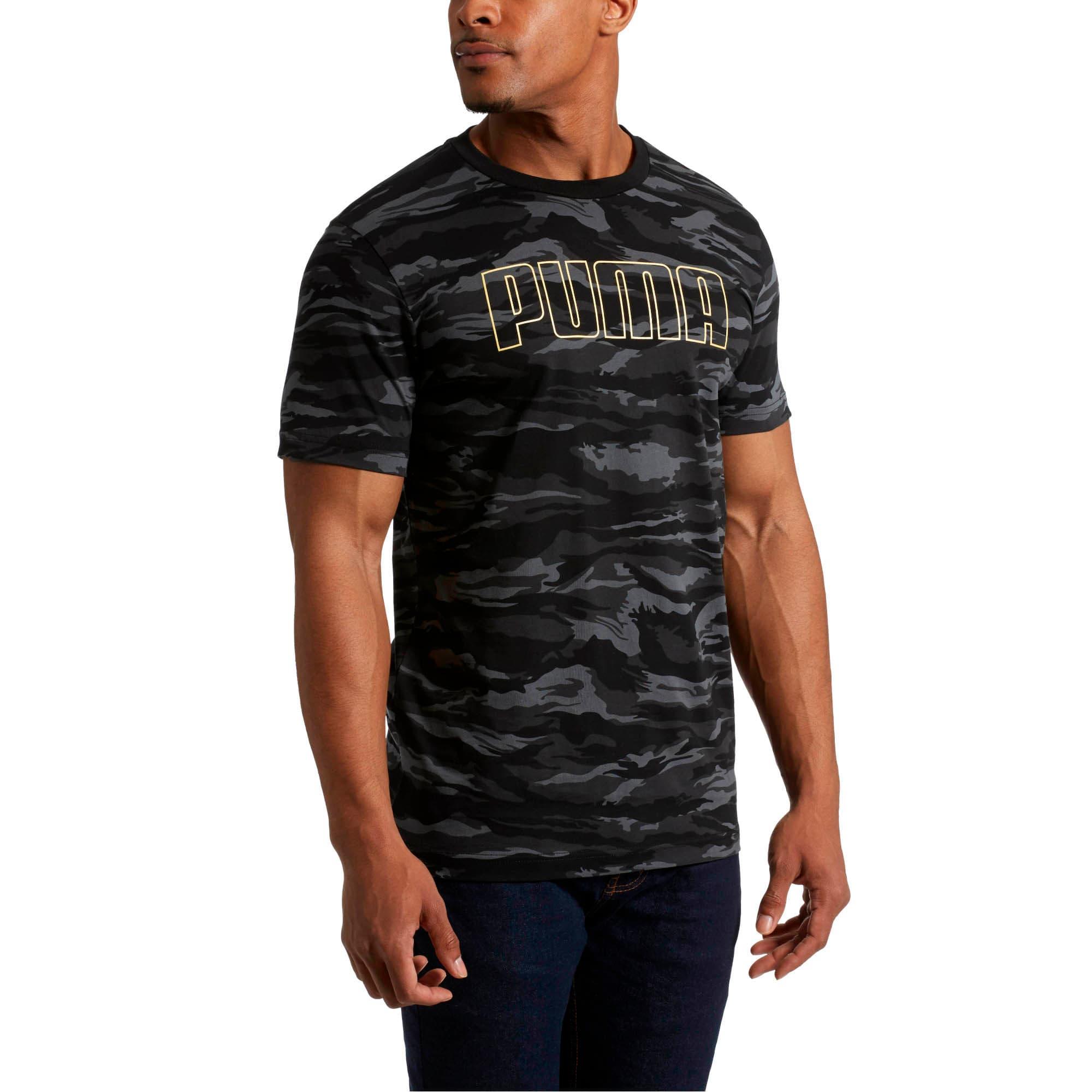 Thumbnail 2 of Camo AOP T-Shirt, Cotton Black-Gold, medium