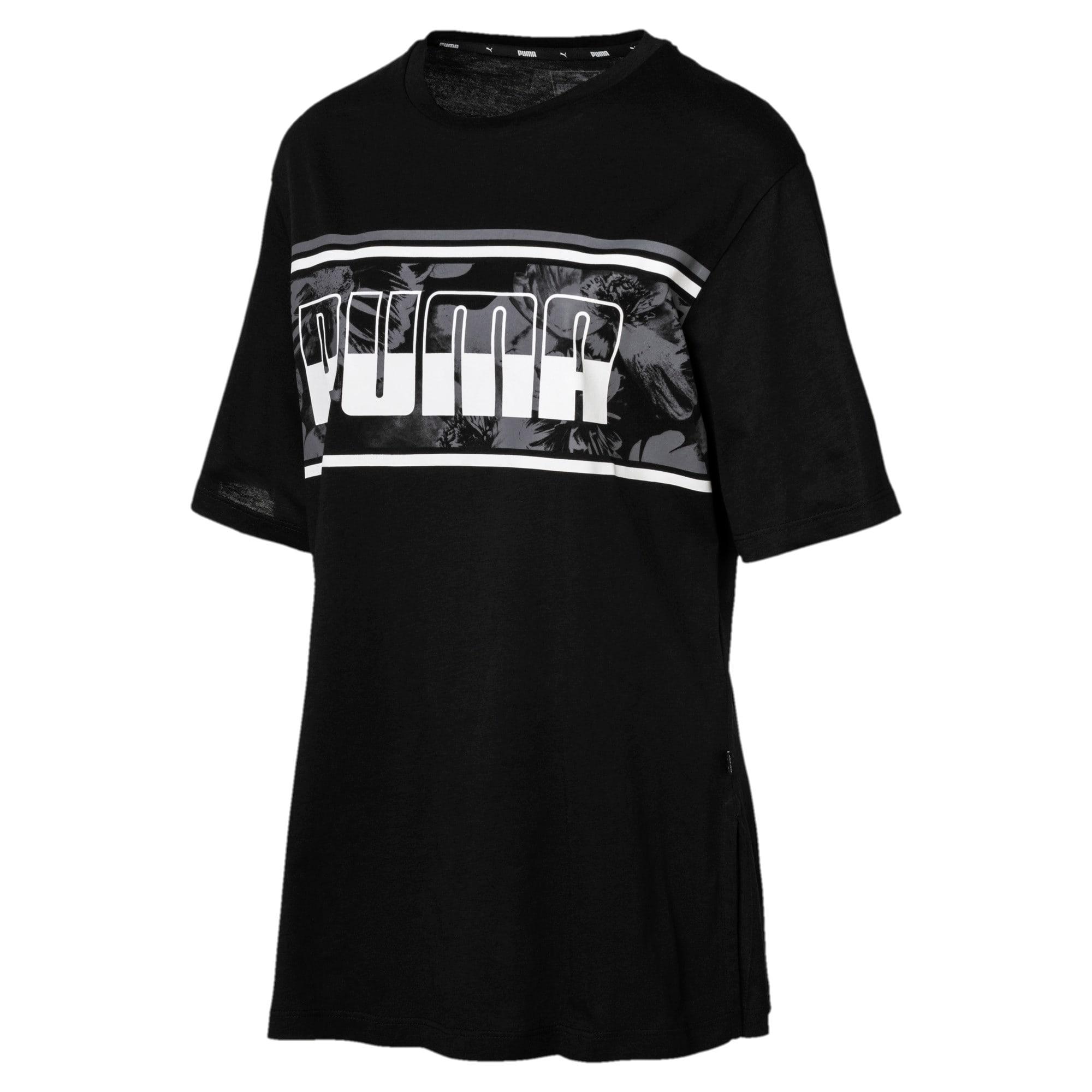 Thumbnail 1 of REBEL Boyfriend Logo T-Shirt, Cotton Black, medium