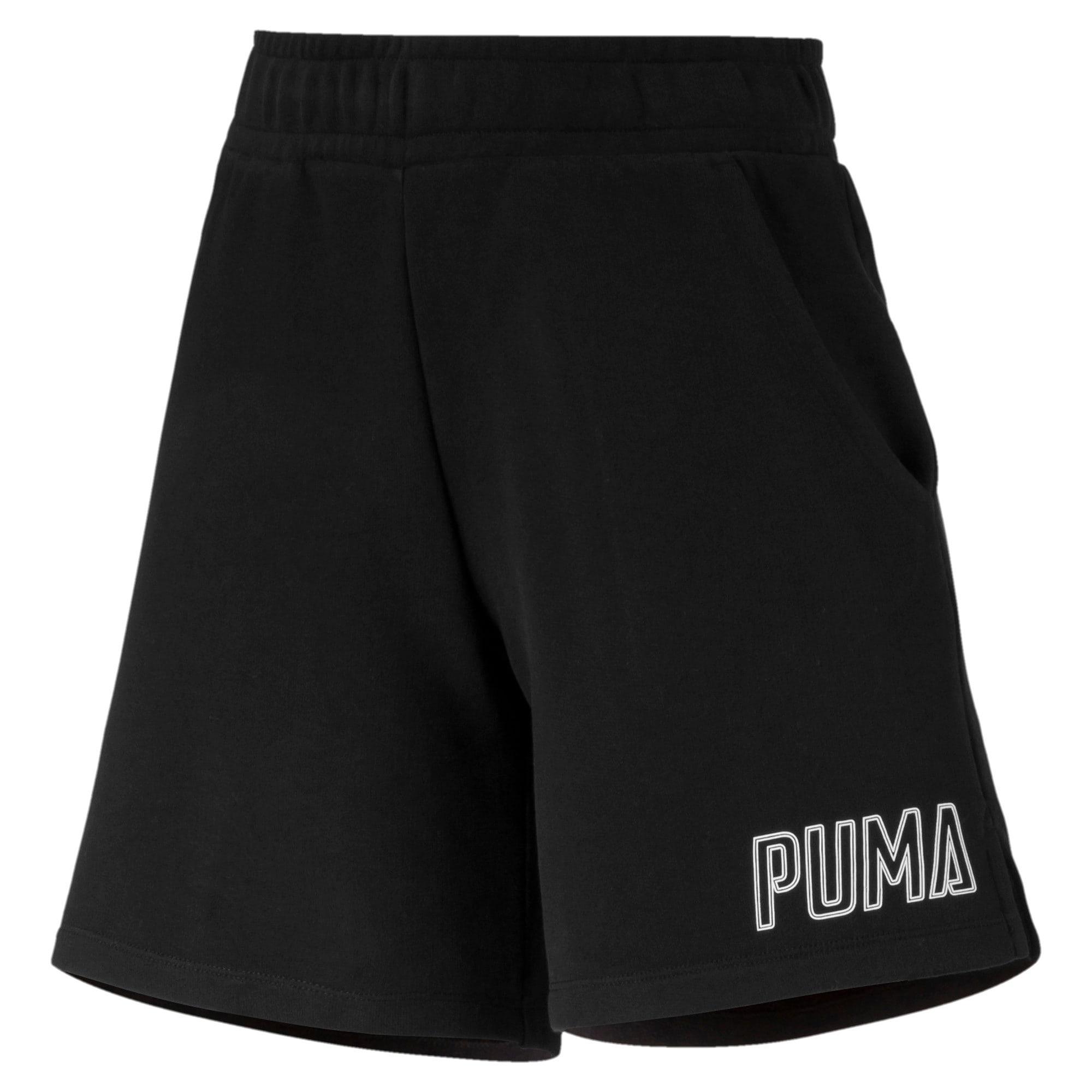 Thumbnail 4 of Athletics Women's Sweat Shorts, Puma Black, medium