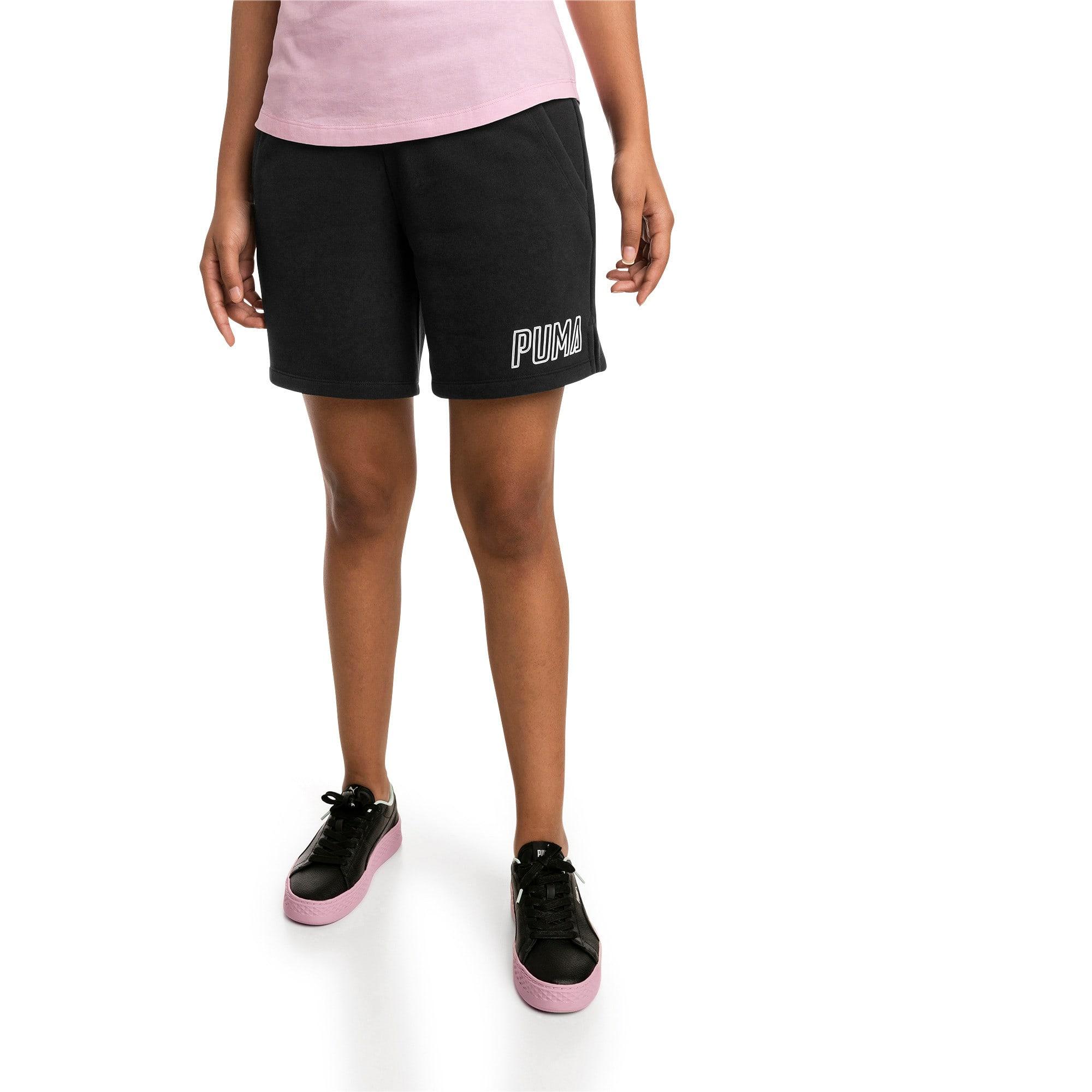Thumbnail 1 of Athletics Women's Sweat Shorts, Puma Black, medium
