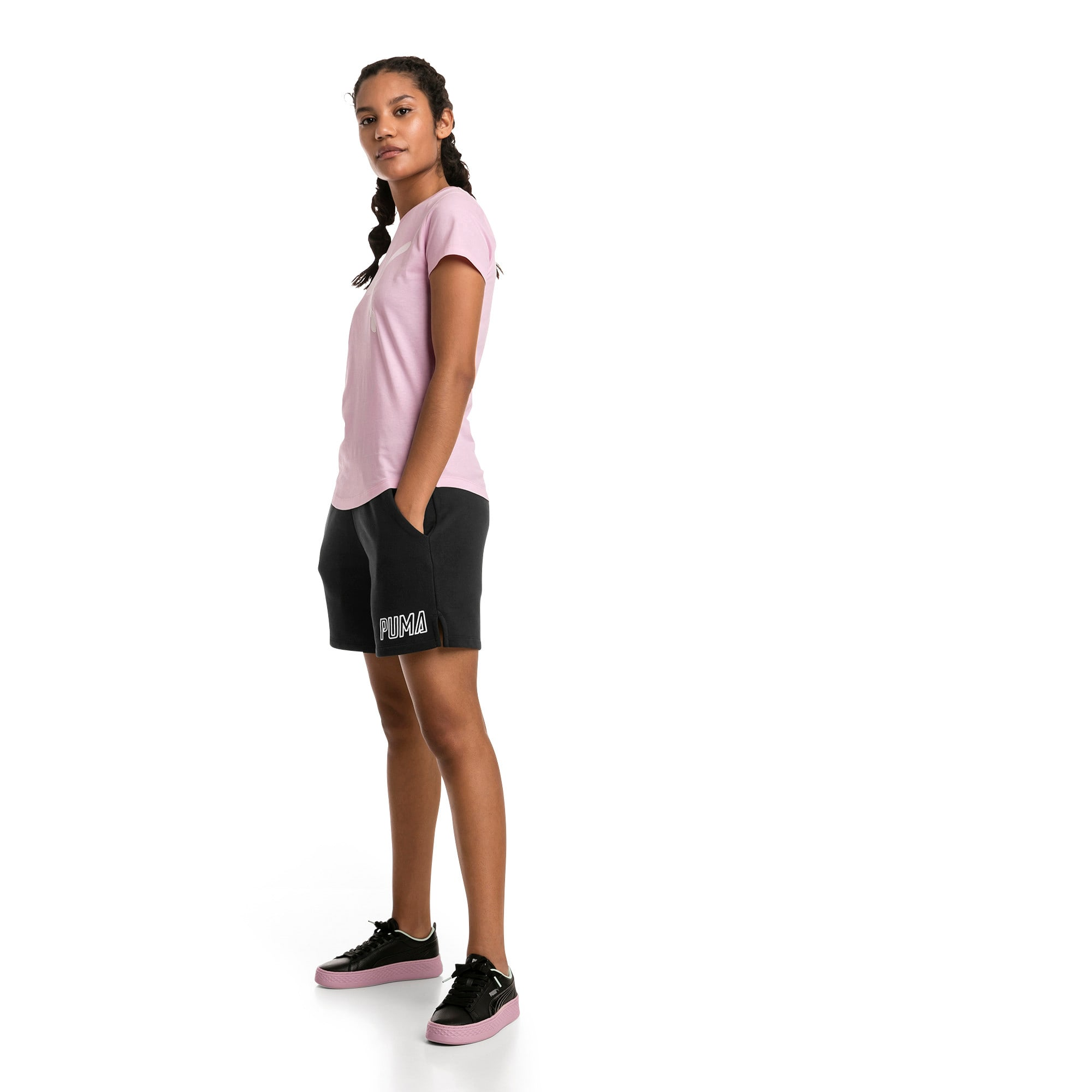 Thumbnail 3 of Athletics Women's Sweat Shorts, Puma Black, medium
