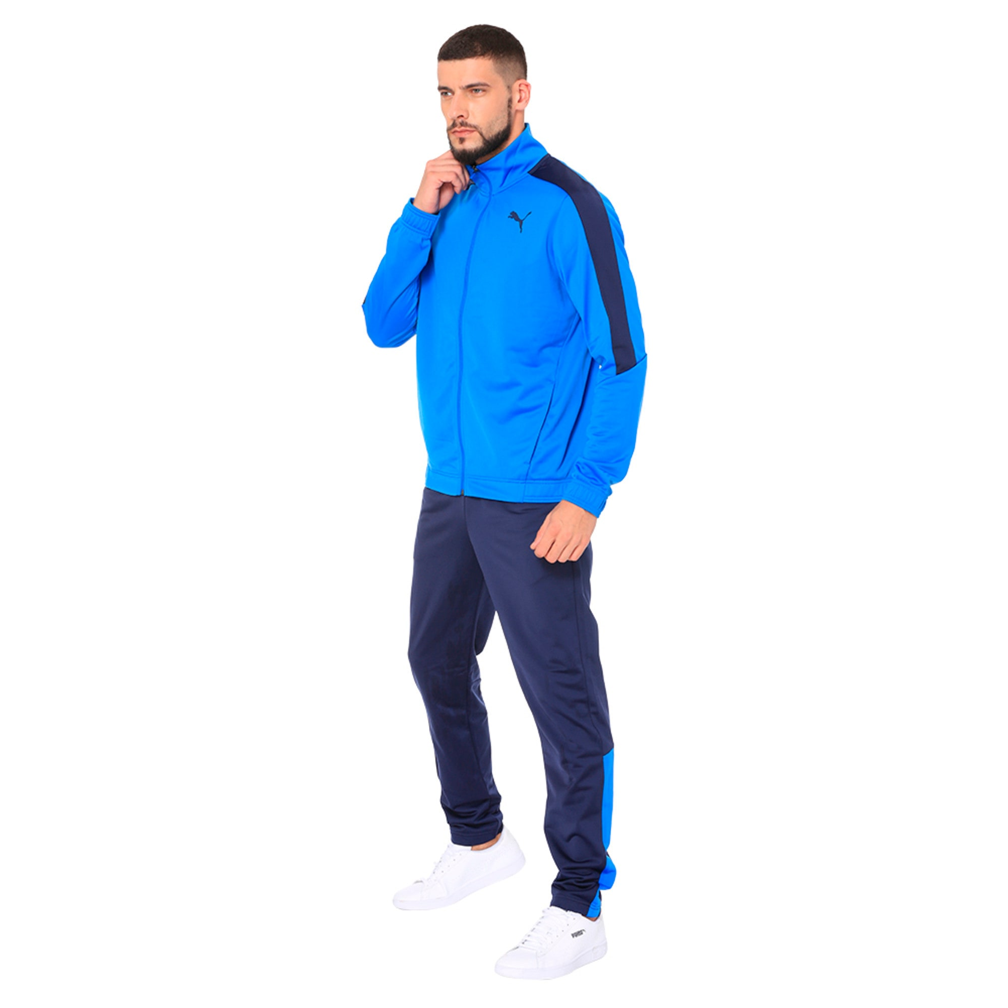 Thumbnail 5 of Techstripe Tricot Suit, Strong Blue-Peacoat, medium-IND