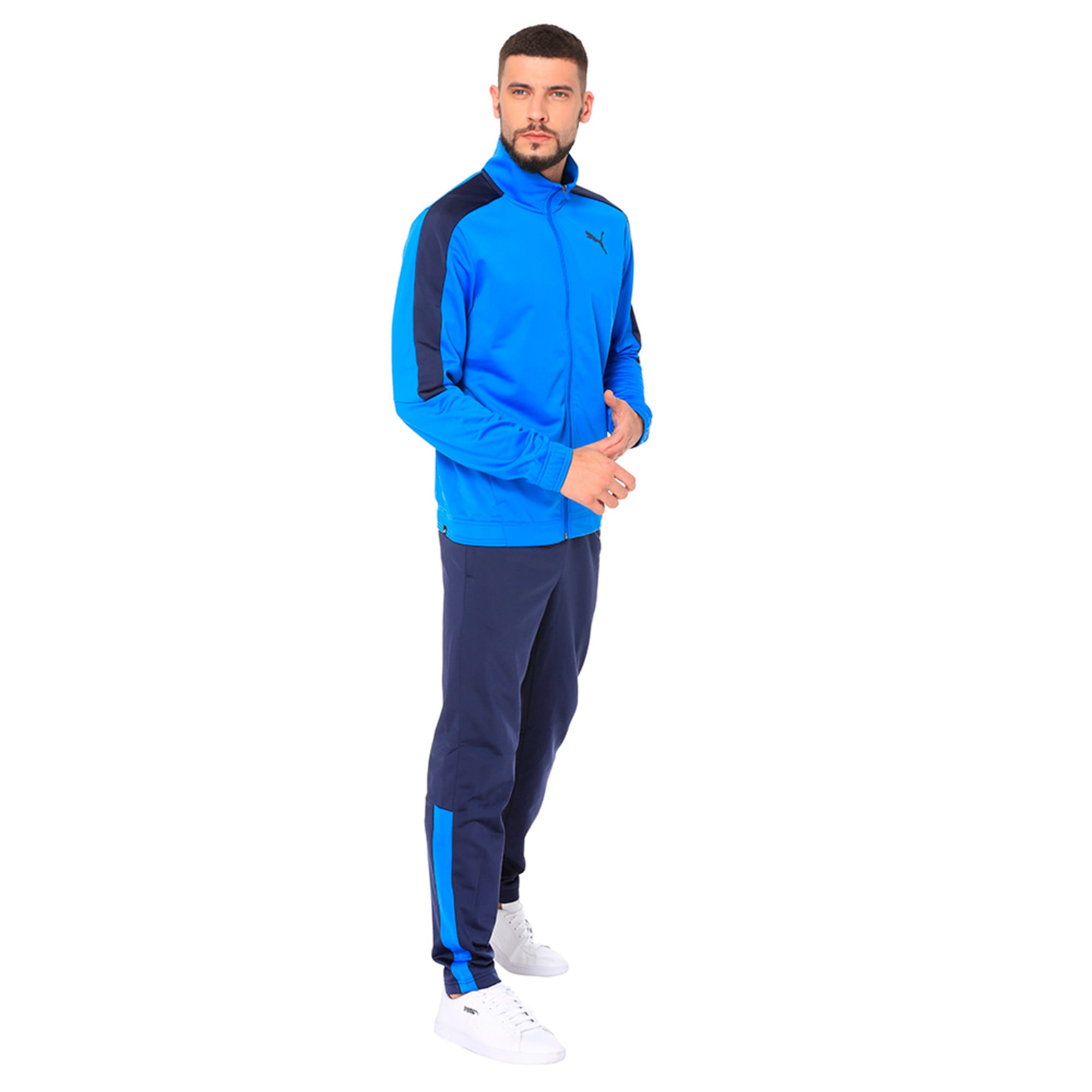 Thumbnail 1 of Techstripe Tricot Suit, Strong Blue-Peacoat, medium-IND