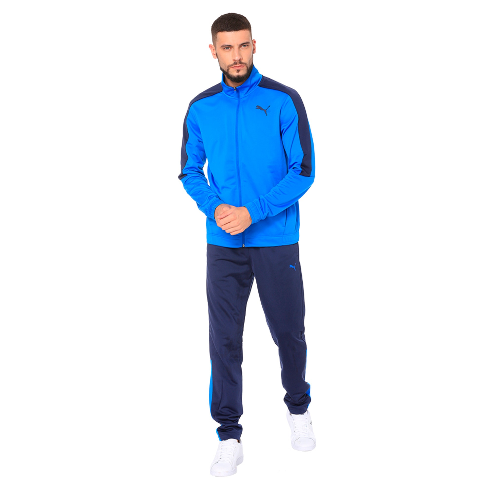 Thumbnail 2 of Techstripe Tricot Suit, Strong Blue-Peacoat, medium-IND