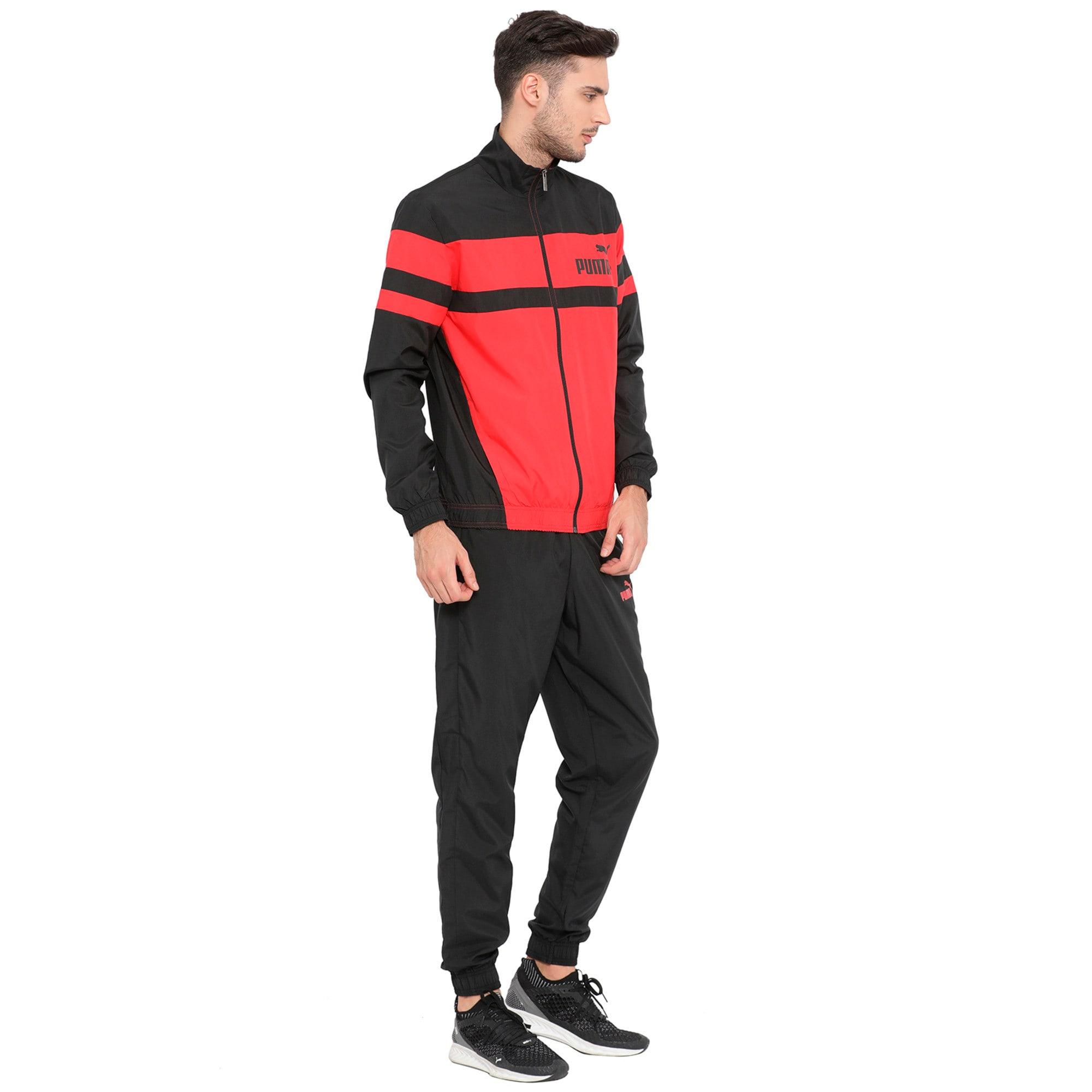 Thumbnail 1 of CB Woven Suit, Ribbon Red-Puma Black, medium-IND