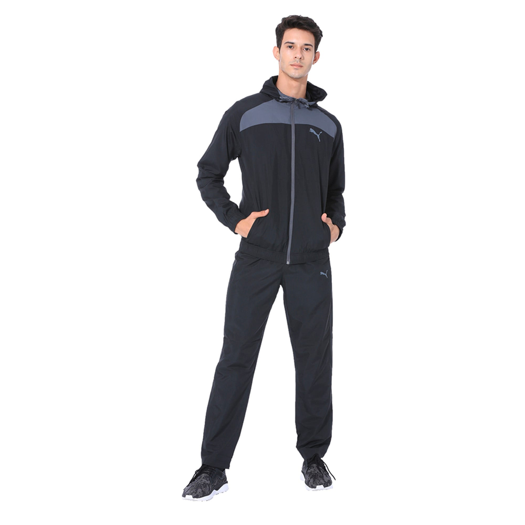 Thumbnail 1 of Modern Sport Hooded Suit Op. Peacoat-Pum, Puma Black-Iron Gate, medium-IND