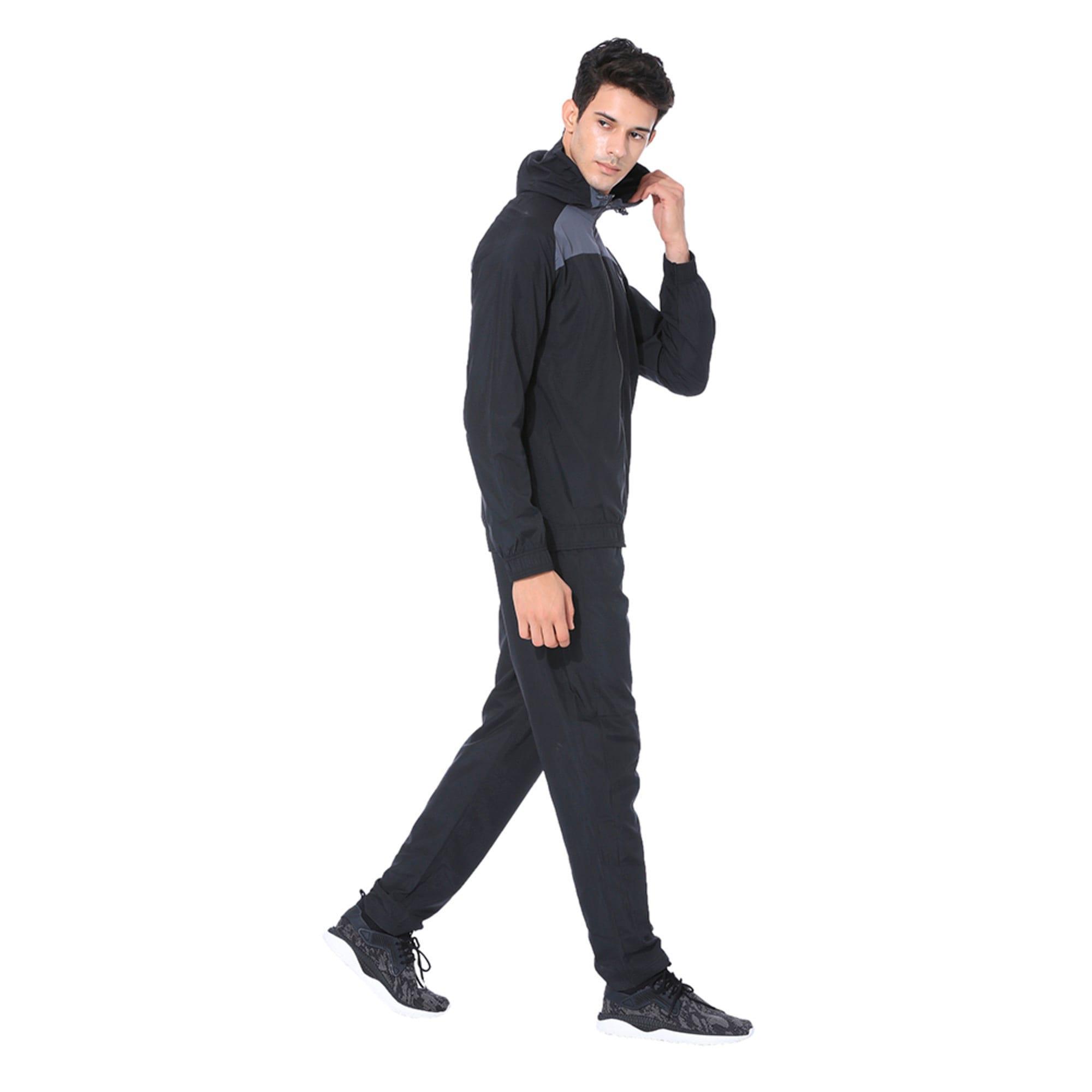 Thumbnail 2 of Modern Sport Hooded Suit Op. Peacoat-Pum, Puma Black-Iron Gate, medium-IND