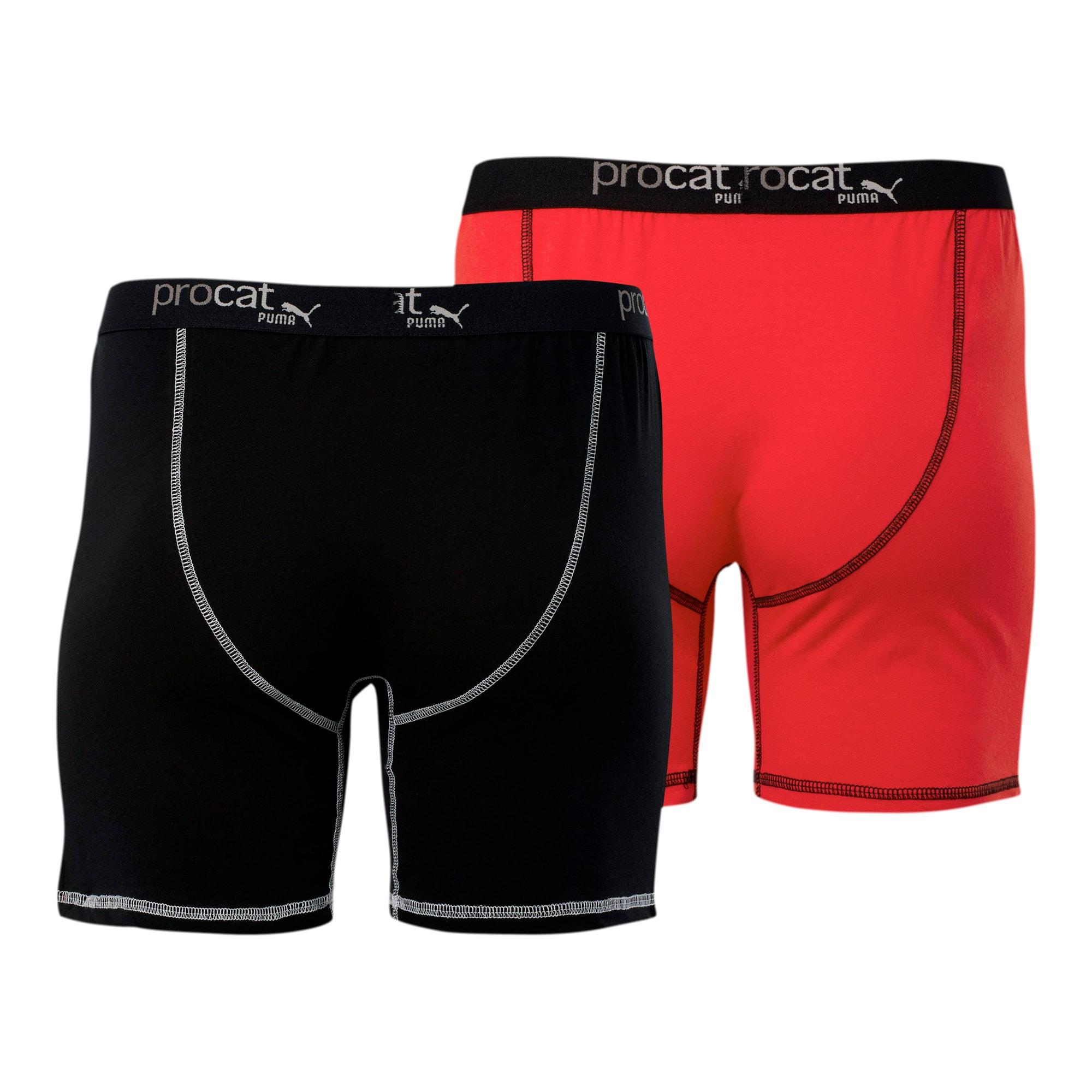 Thumbnail 2 of ProCat Men's Boxer Briefs [2 Pack], RED/BLACK, medium