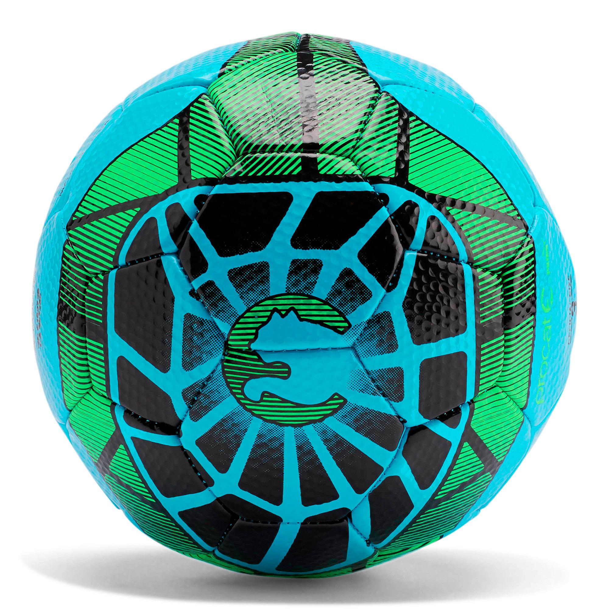 Thumbnail 1 of ProCat Geomax Soccer Ball, CYANNE BLU, medium