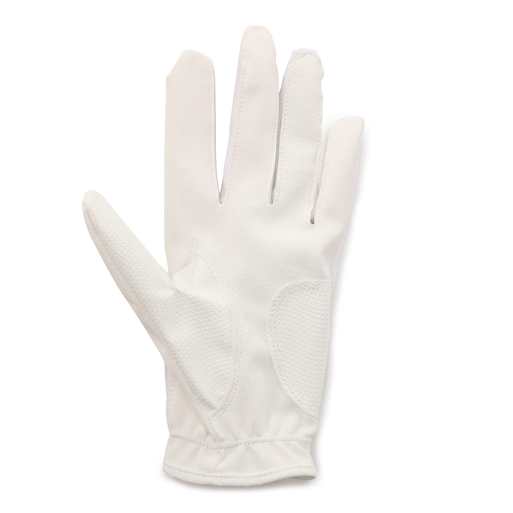 Thumbnail 2 of ゴルフ 3D ウィメンズ パフォーマンス グローブ 両手用, White / White, medium-JPN