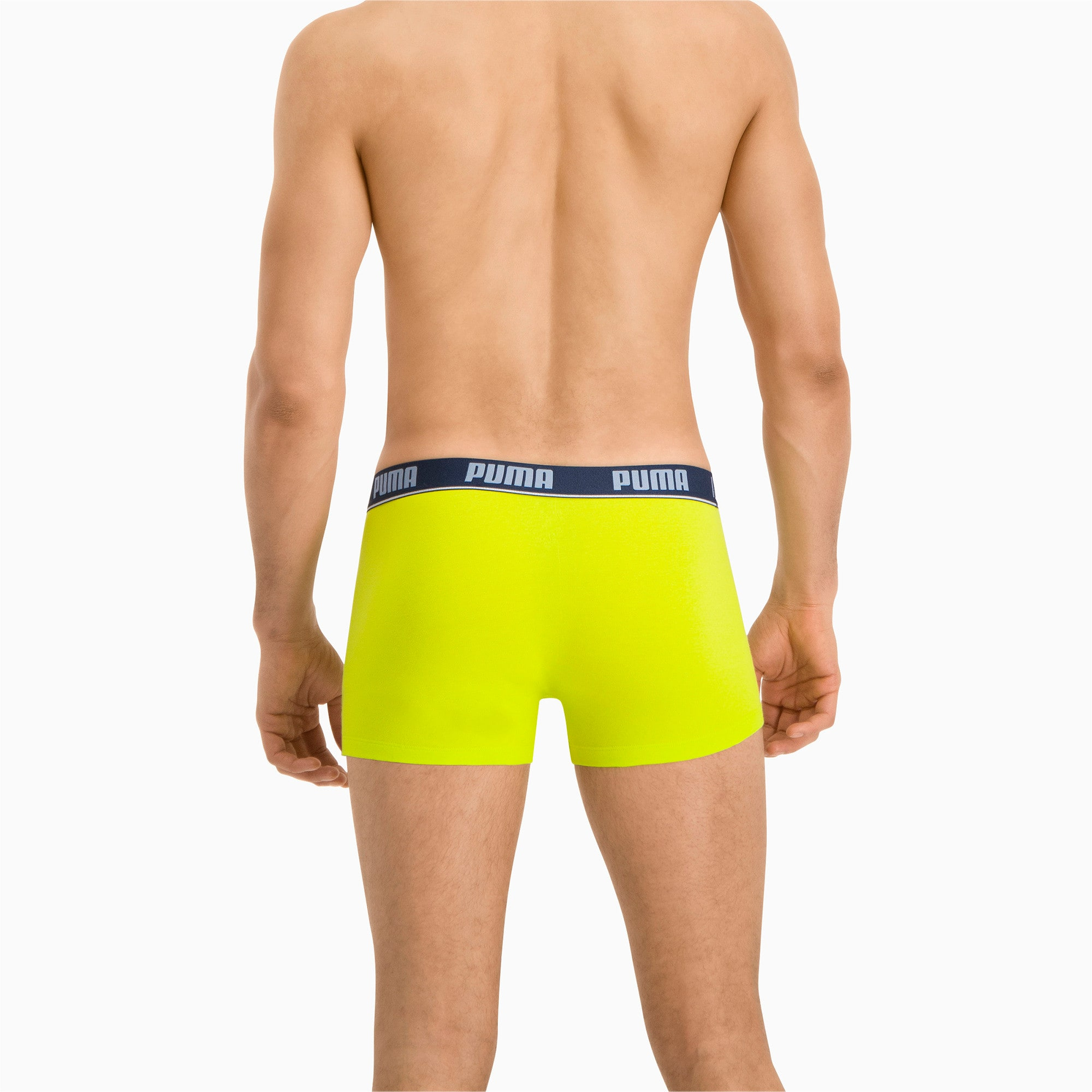 Thumbnail 4 van 2 basic boxershorts, blue / lime, medium