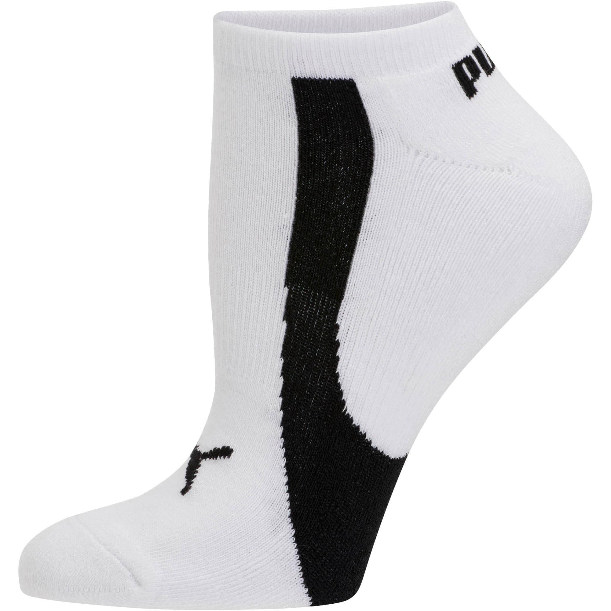 Thumbnail 2 of Women's No Show Socks [3 Pack], white-black, medium
