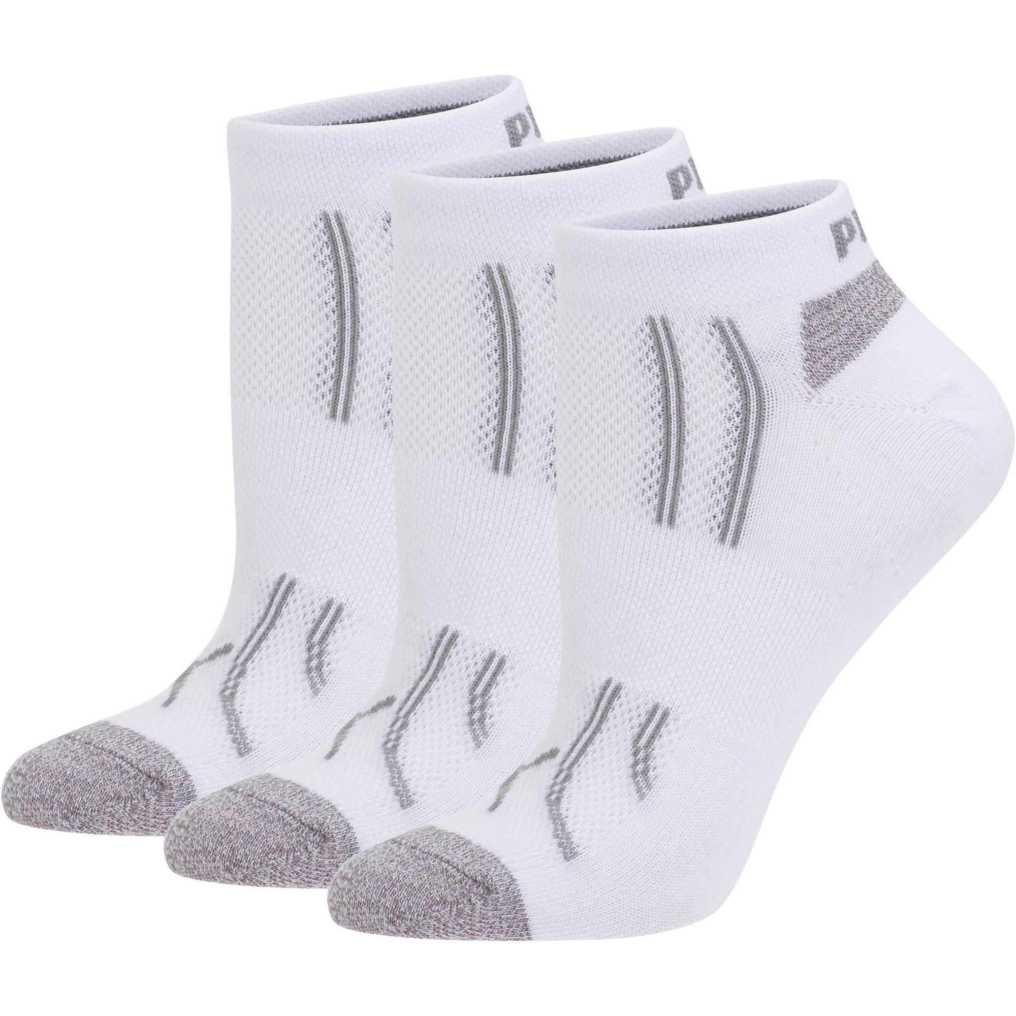 Thumbnail 1 of Modal Women's Low Cut Socks [3 Pack], white-steel grey, medium