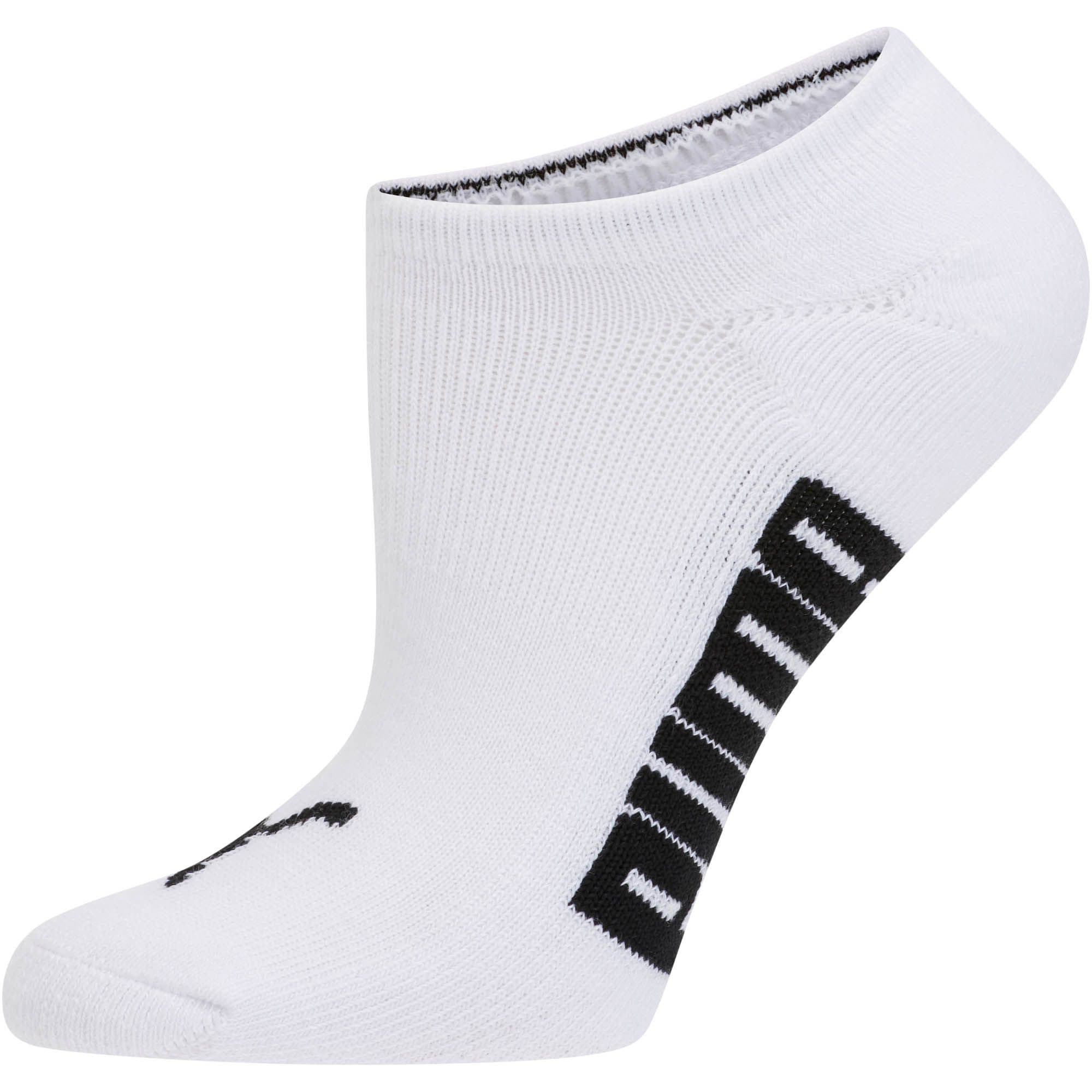 Thumbnail 4 of Women's Invisible No Show Socks (3 Pack), white-black-light heather gr, medium