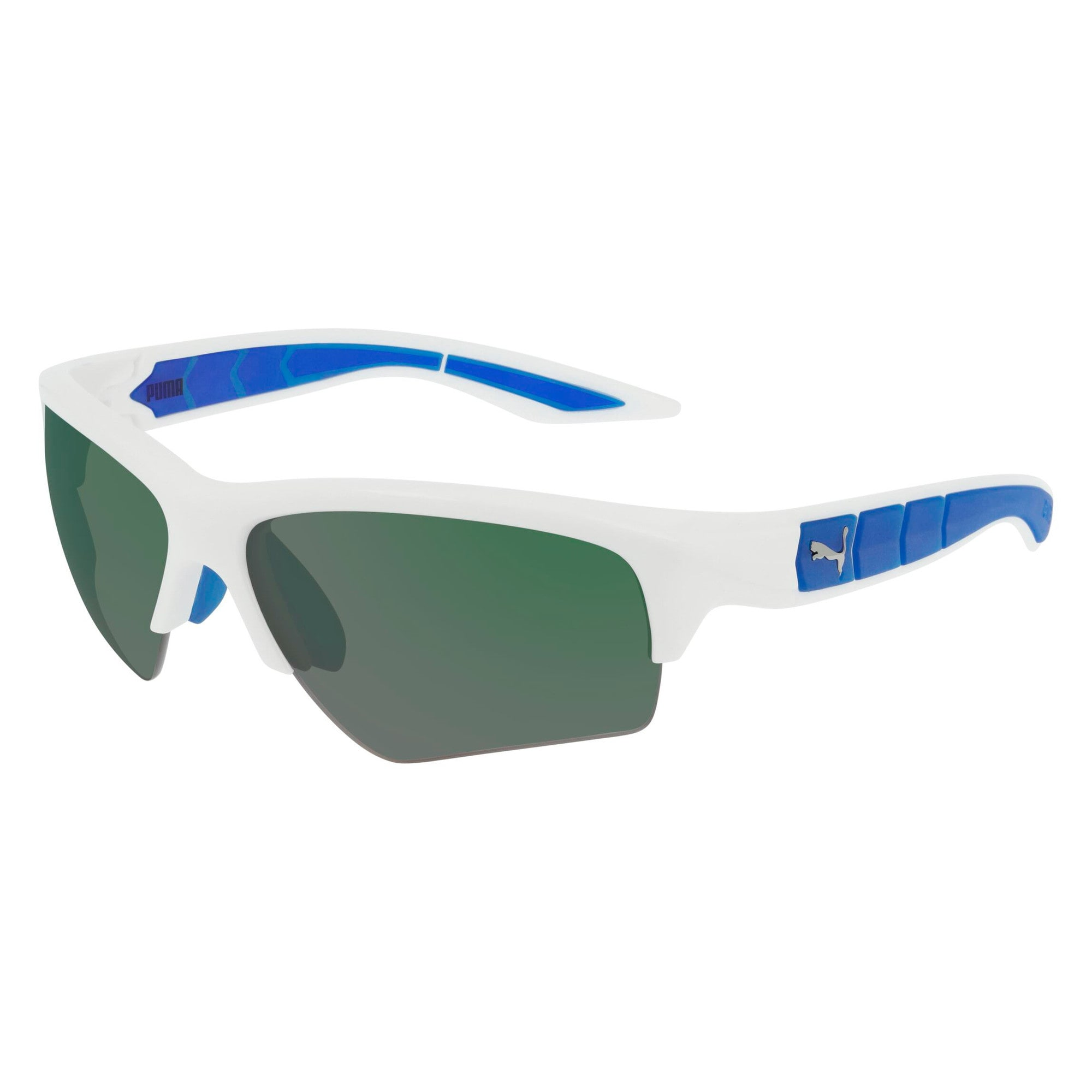 Miniatura 1 de Gafas de sol Wake con diseño deportivo, BLANCO-BLANCO-VERDE, mediano
