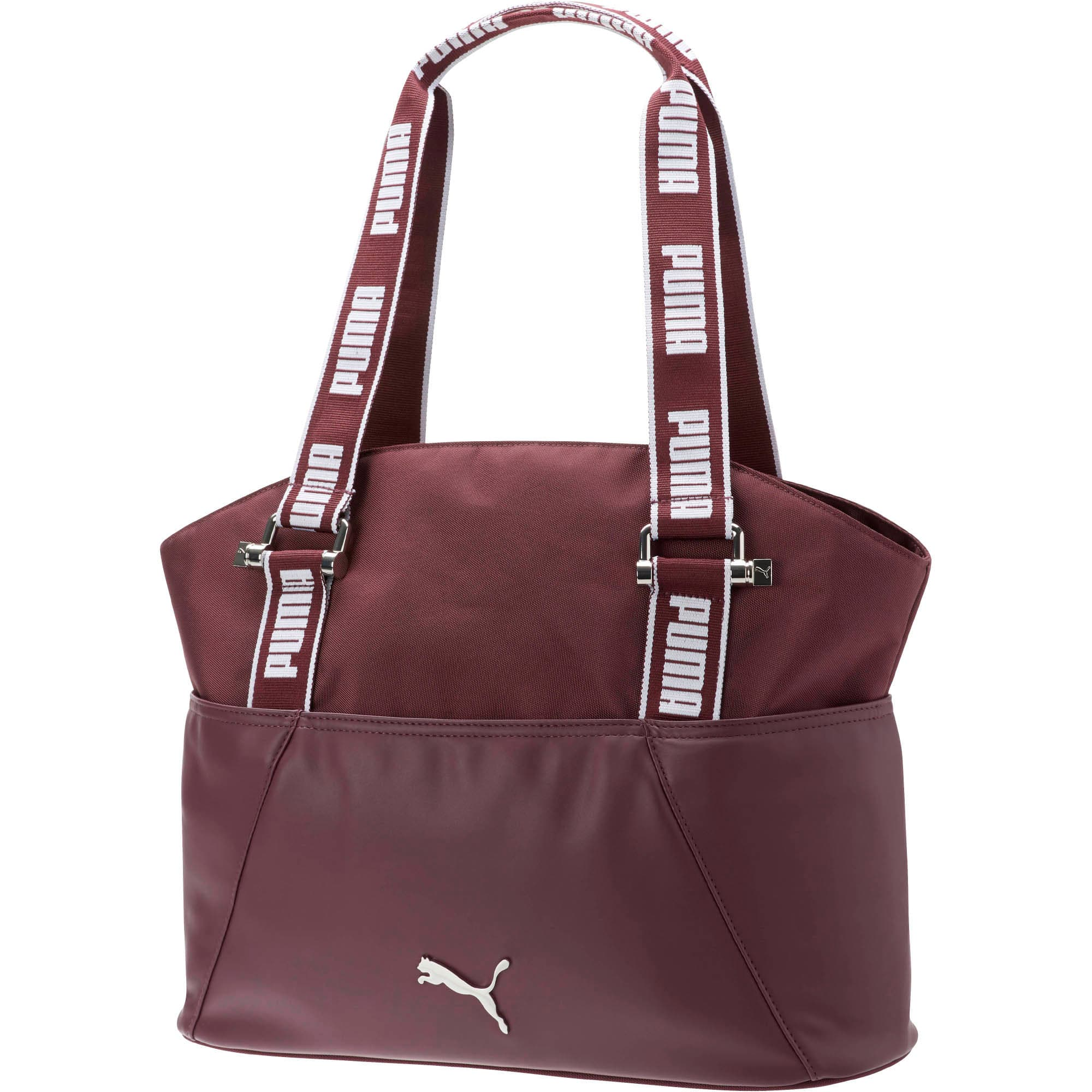 Marnie Tote Bag, Burgundy, large