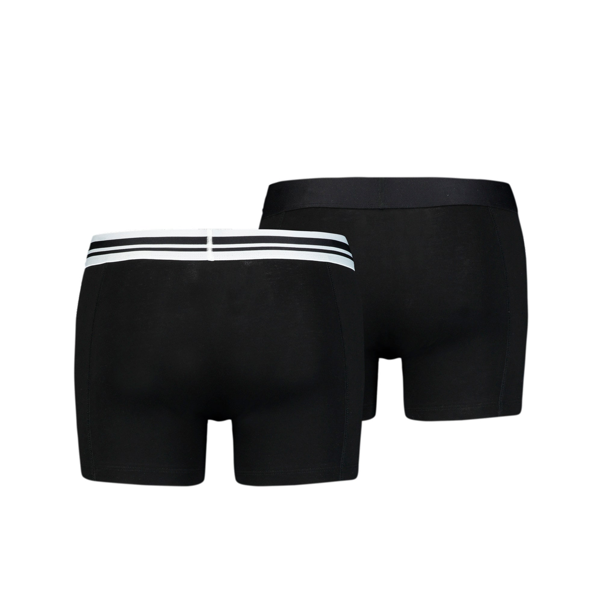 Placed Logo Short Boxers 2 Pack, black, large