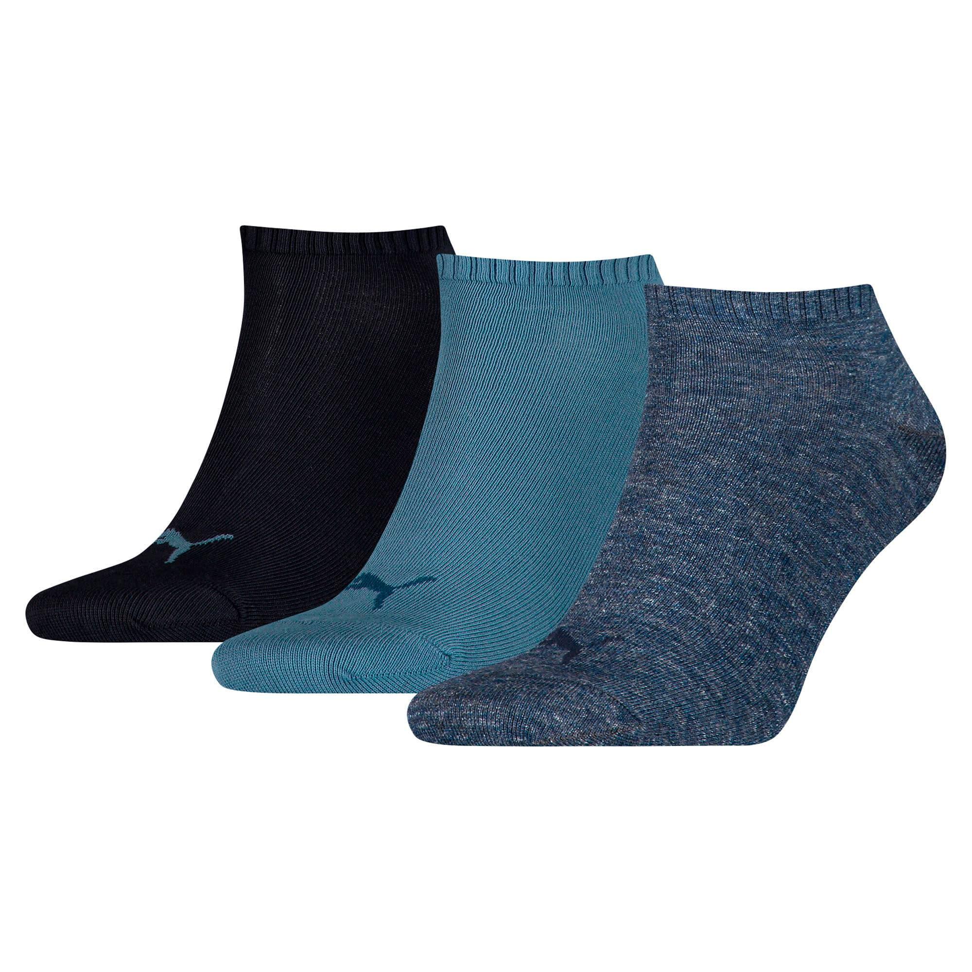 Thumbnail 1 of Trainer Socks 3 Pack, denim blue, medium