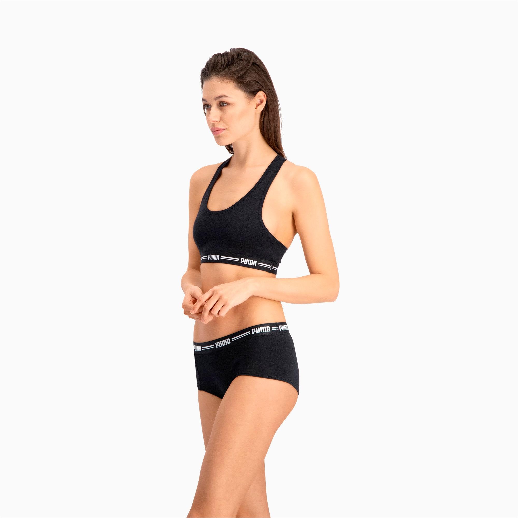 Thumbnail 2 of Women's Iconic Mini Shorts 2 Pack, black, medium