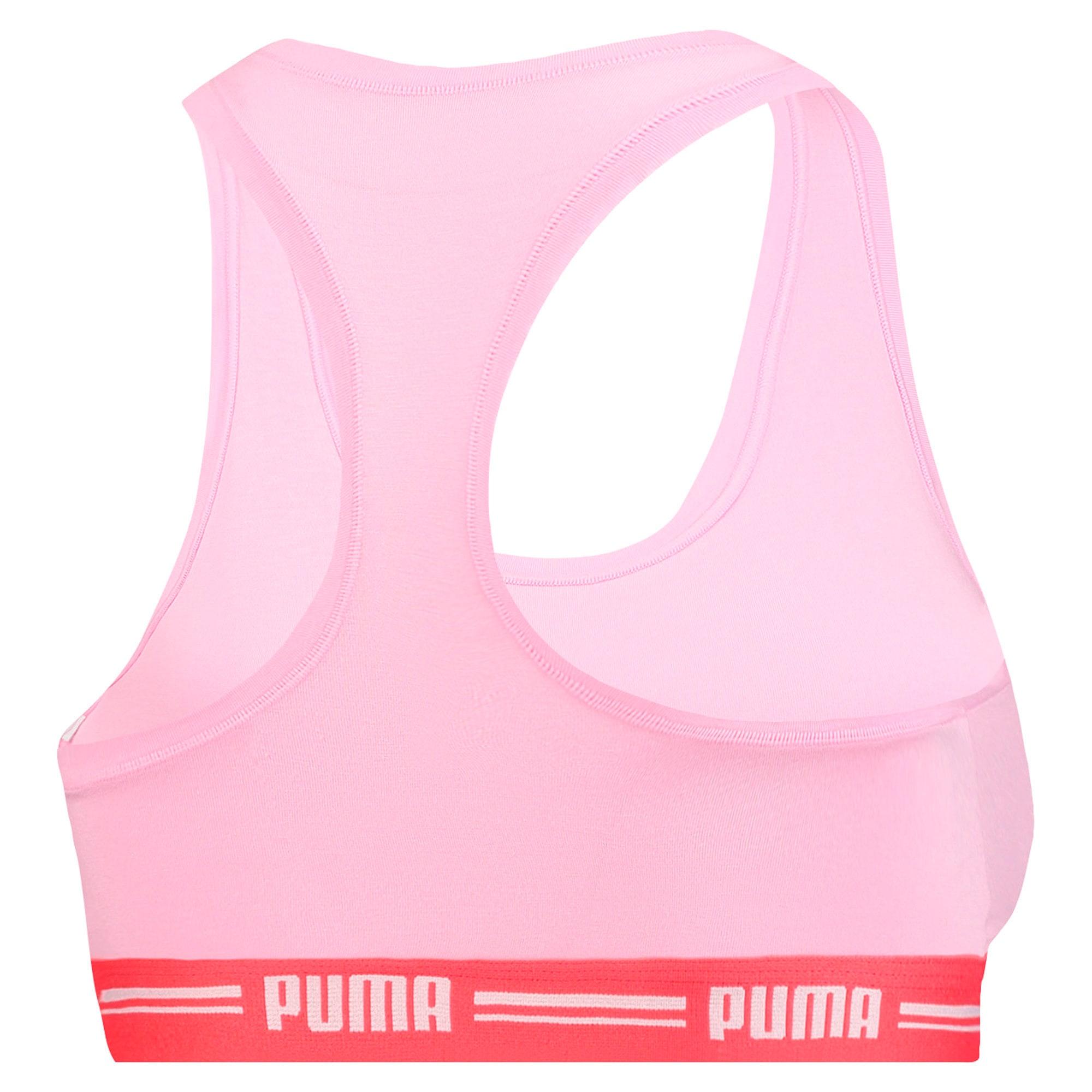 Thumbnail 2 of Iconic Racerback Women's Bra, pink / red, medium