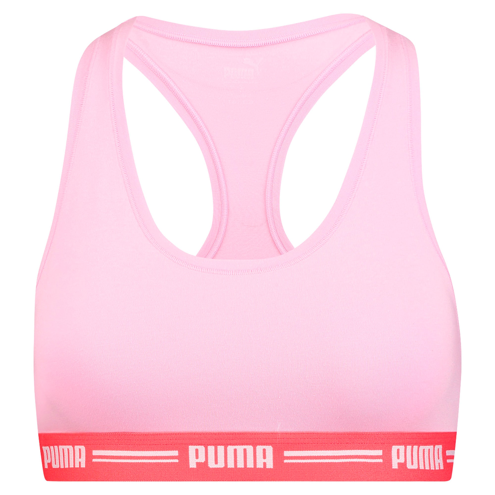 Thumbnail 3 of Iconic Racerback Women's Bra, pink / red, medium