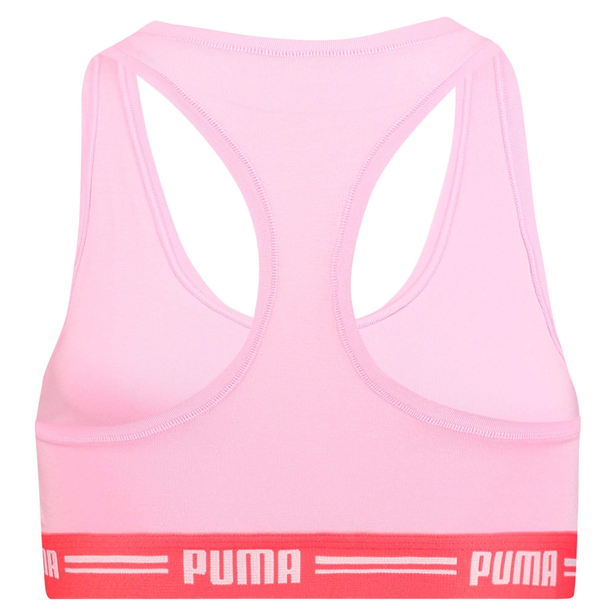 Thumbnail 4 of Iconic Racerback Women's Bra, pink / red, medium