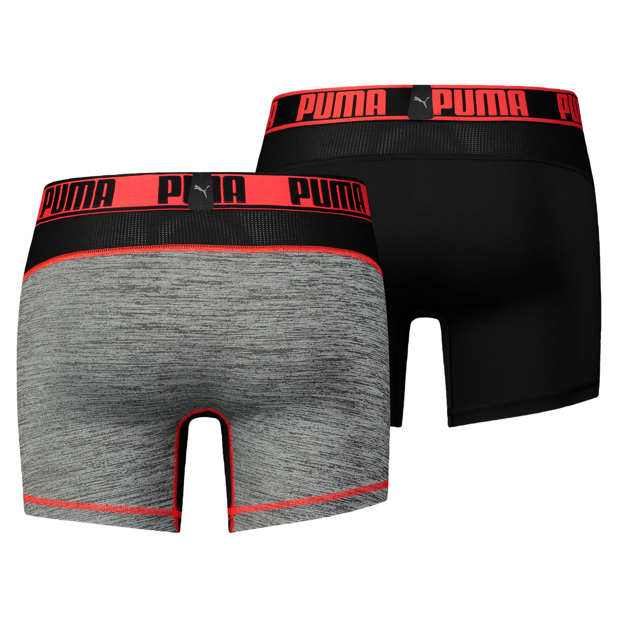 Thumbnail 2 of Active Men's Grizzly Boxer Shorts 2 Pack, black/red, medium