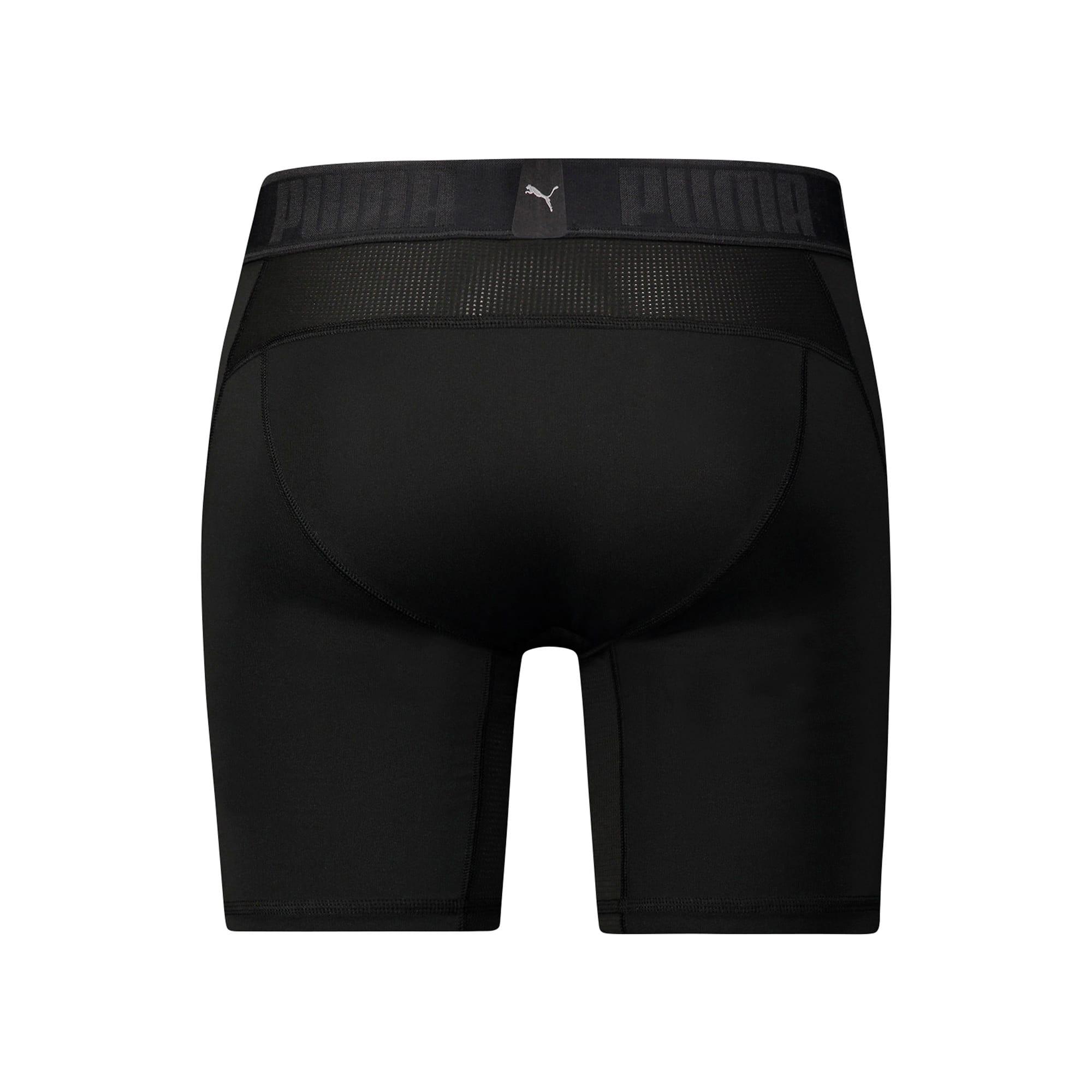 Thumbnail 2 of Active Men's Long Boxer Shorts, black, medium