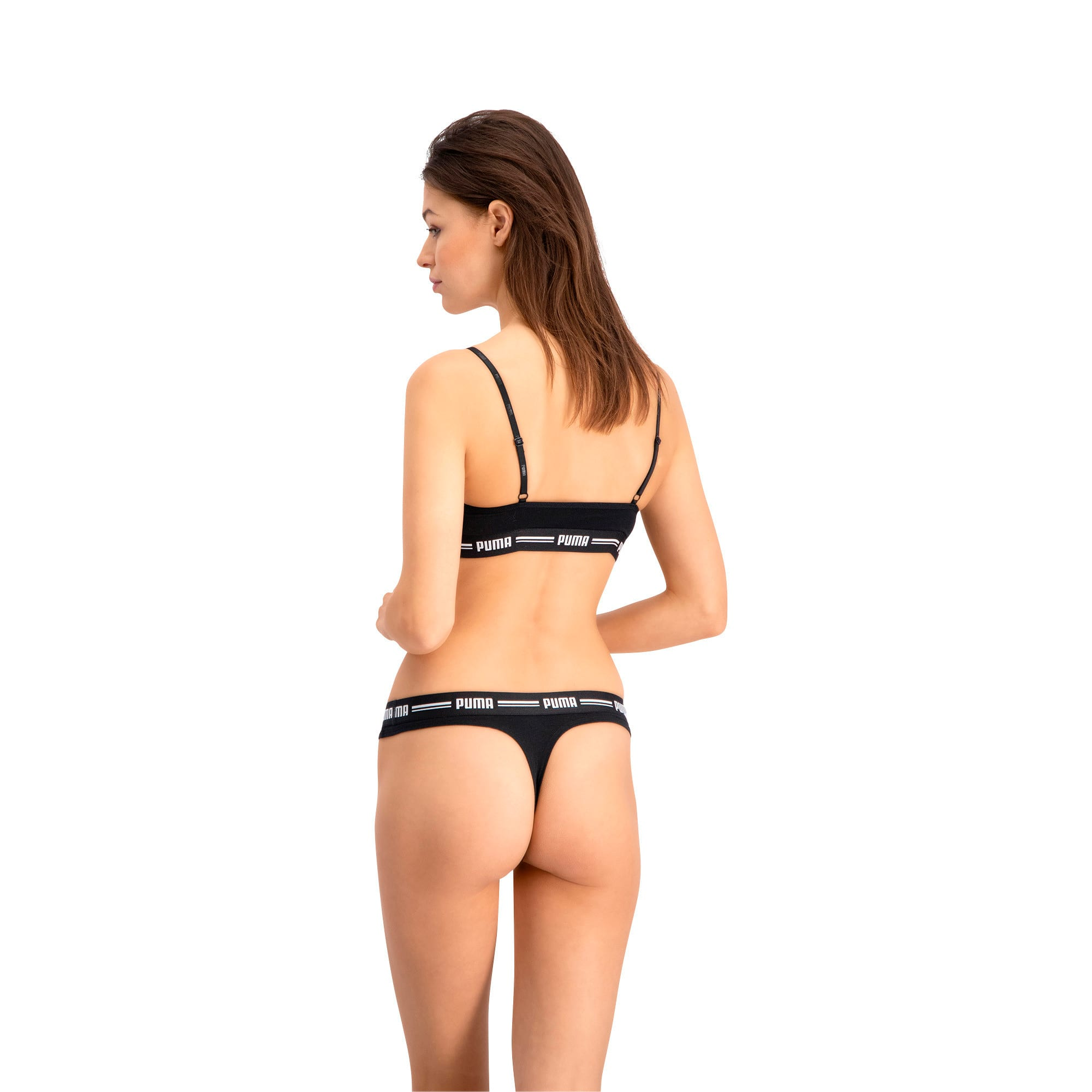 Thumbnail 4 of Women's Iconic String Panties 2 Pack, black, medium