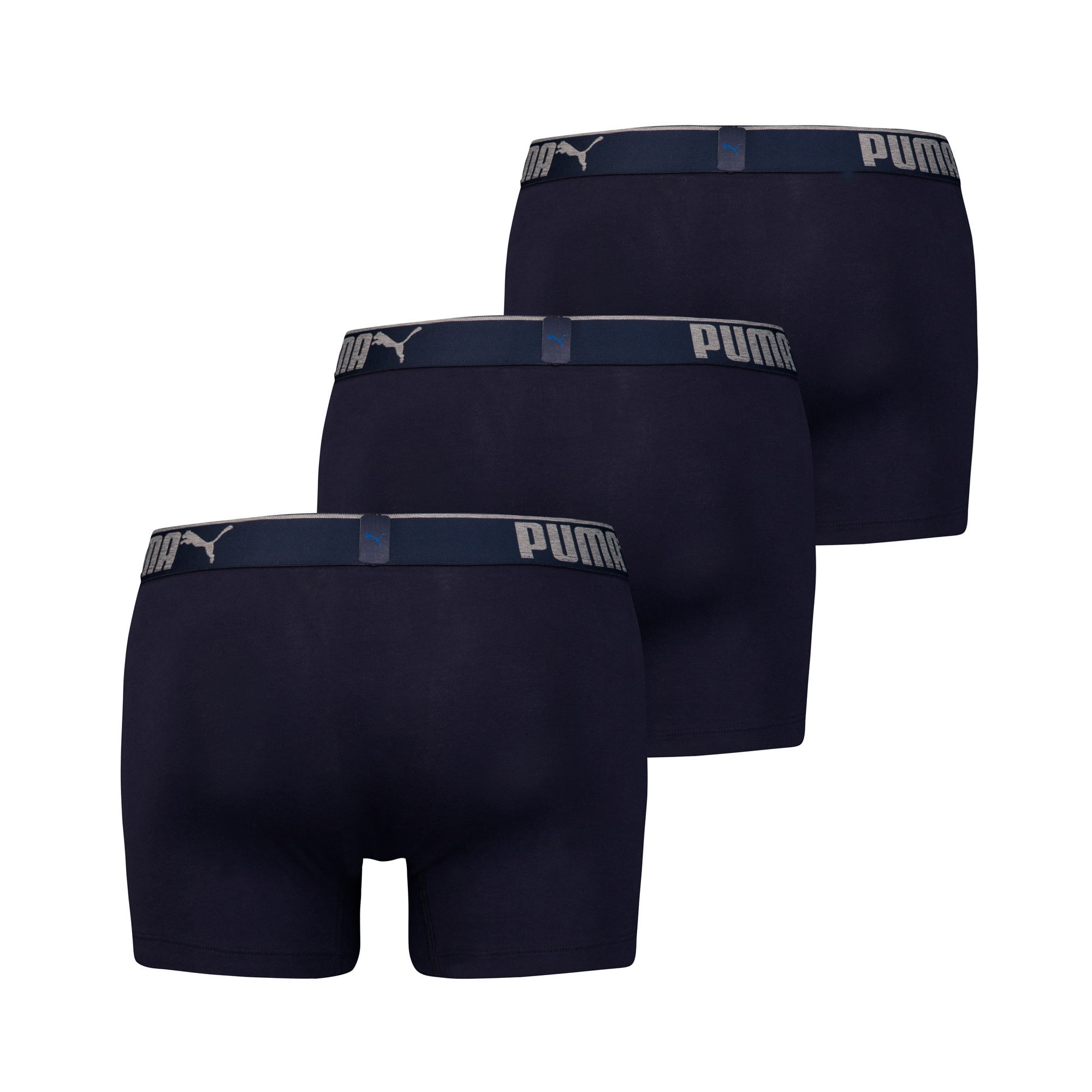 Thumbnail 2 of Men's Lifestyle Sueded Cotton Boxer Shorts 3 Pack, navy, medium