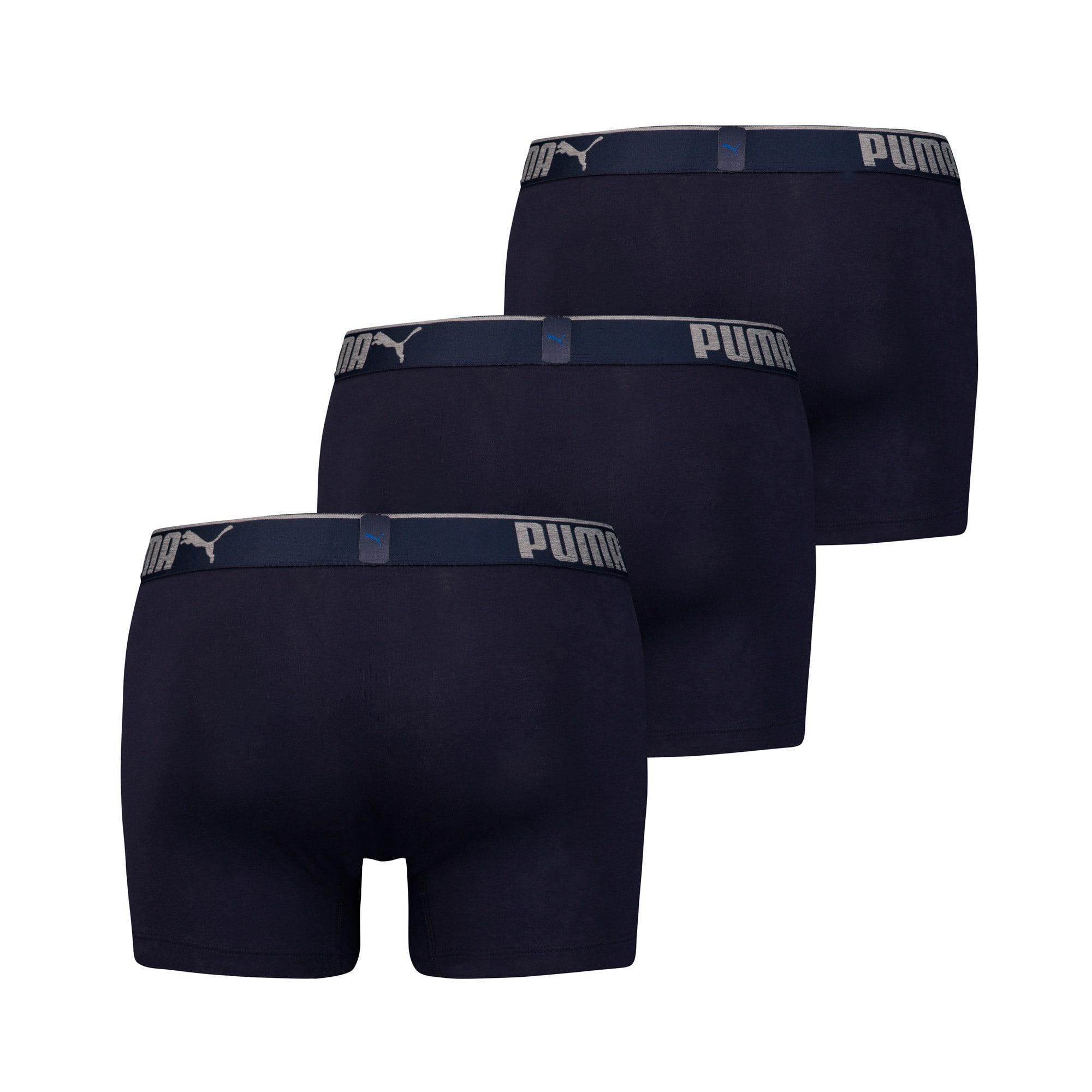 Thumbnail 2 van 3 Lifestyle boxershorts van katoen met suède voor mannen, marineblauw, medium
