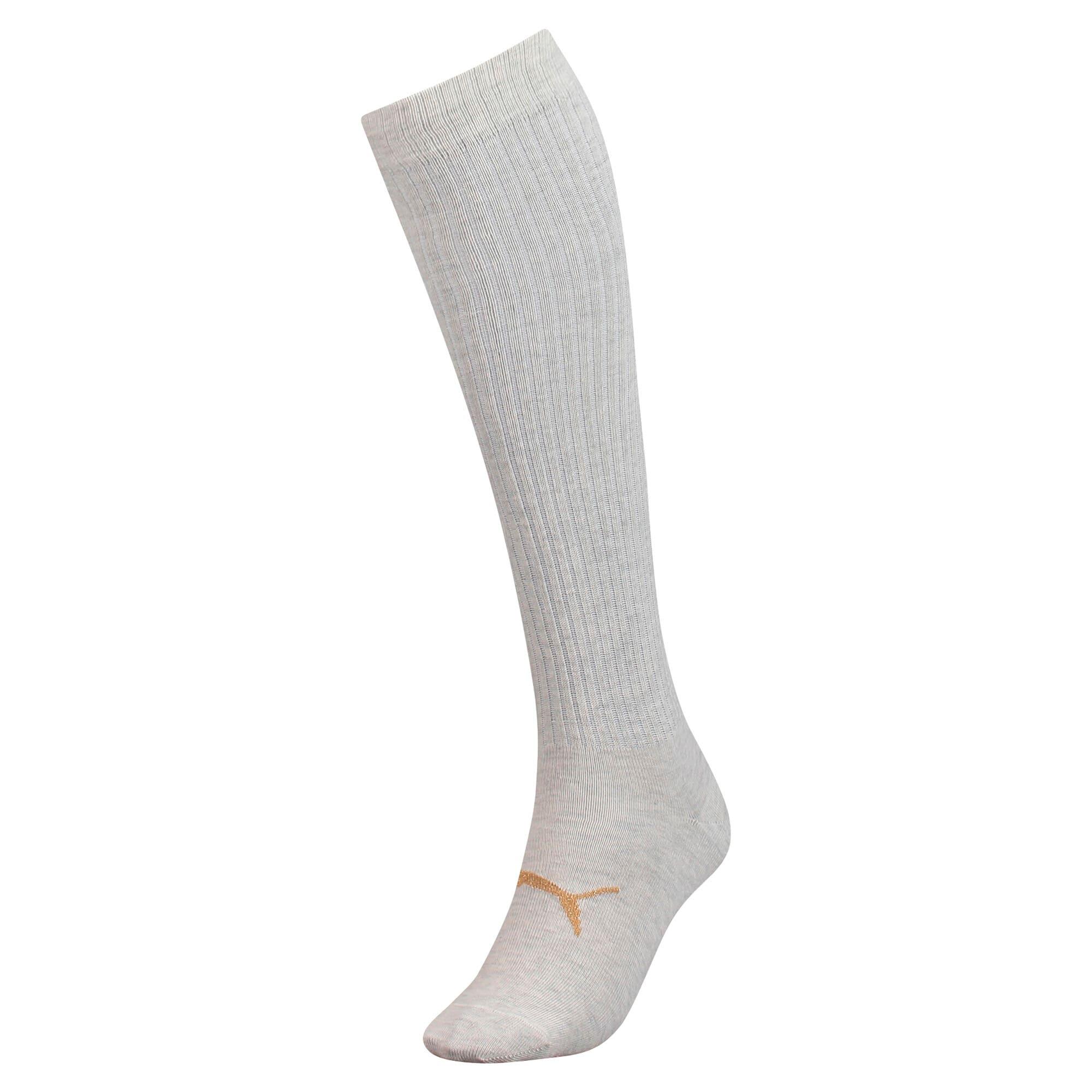 Thumbnail 1 of Lurex Women's Knee-High Socks, white melange / gold, medium